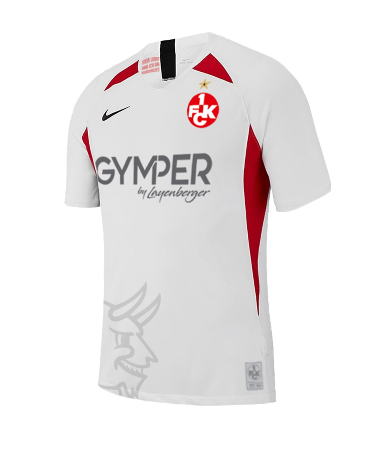 Nike 1. FC Kaiserslautern Trikot 3rd 19/20 Kids F101 - weiss