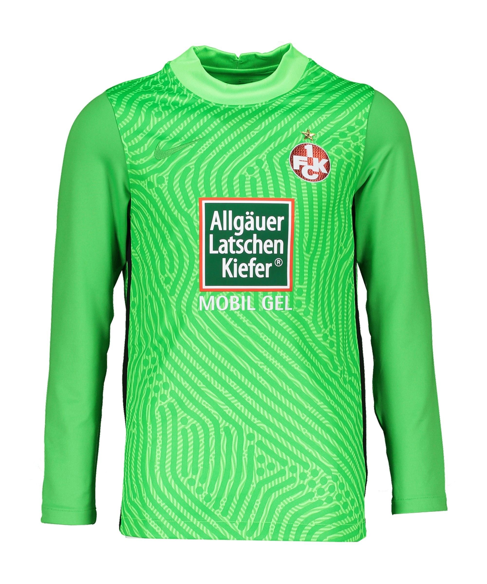 Nike 1. FC Kaiserslautern Torwarttrikot 2020/2021 Kids Grün F398 - gruen
