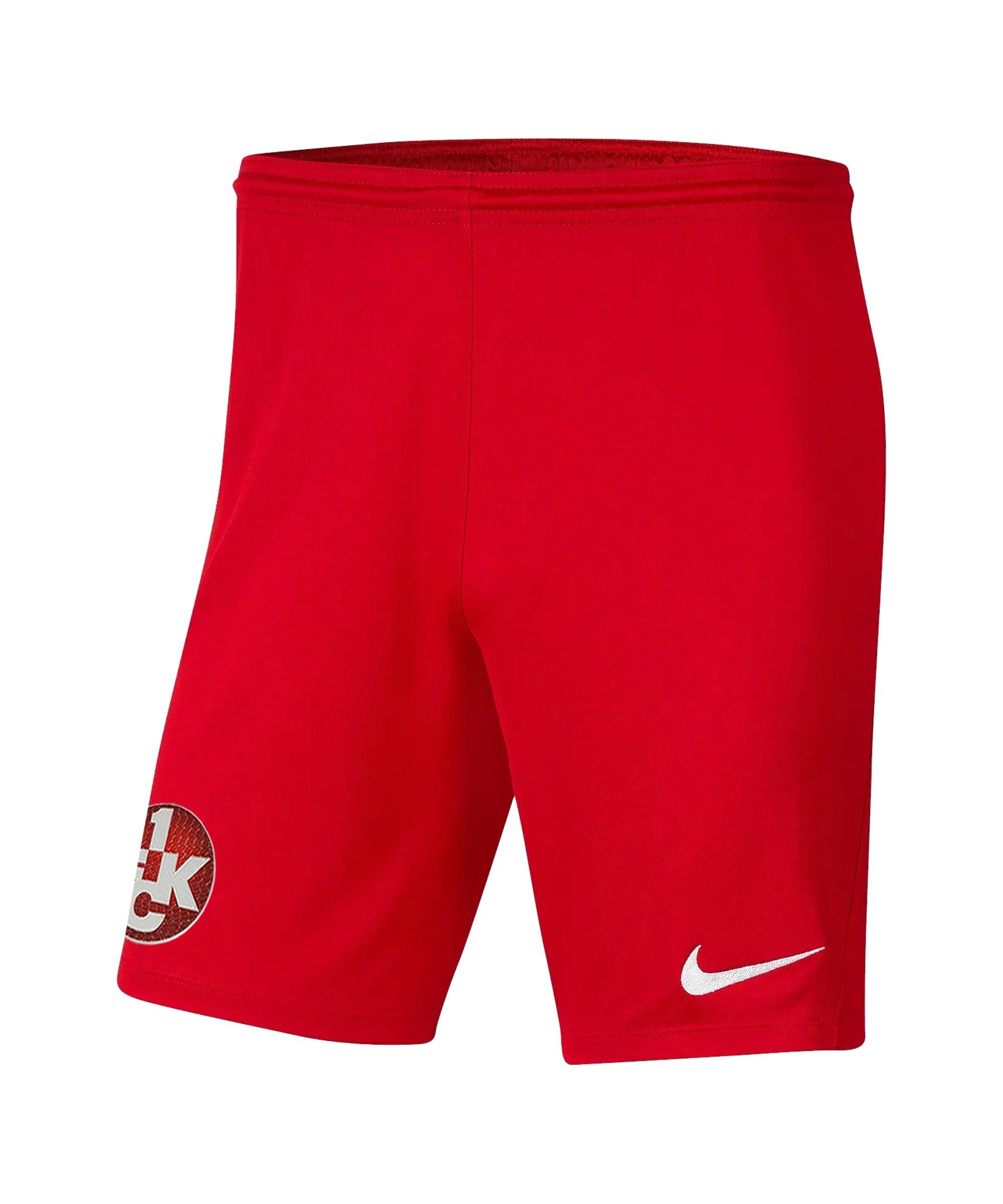 Nike 1. FC Kaiserslautern Short Home 2021/2022 Rot F657 - rot