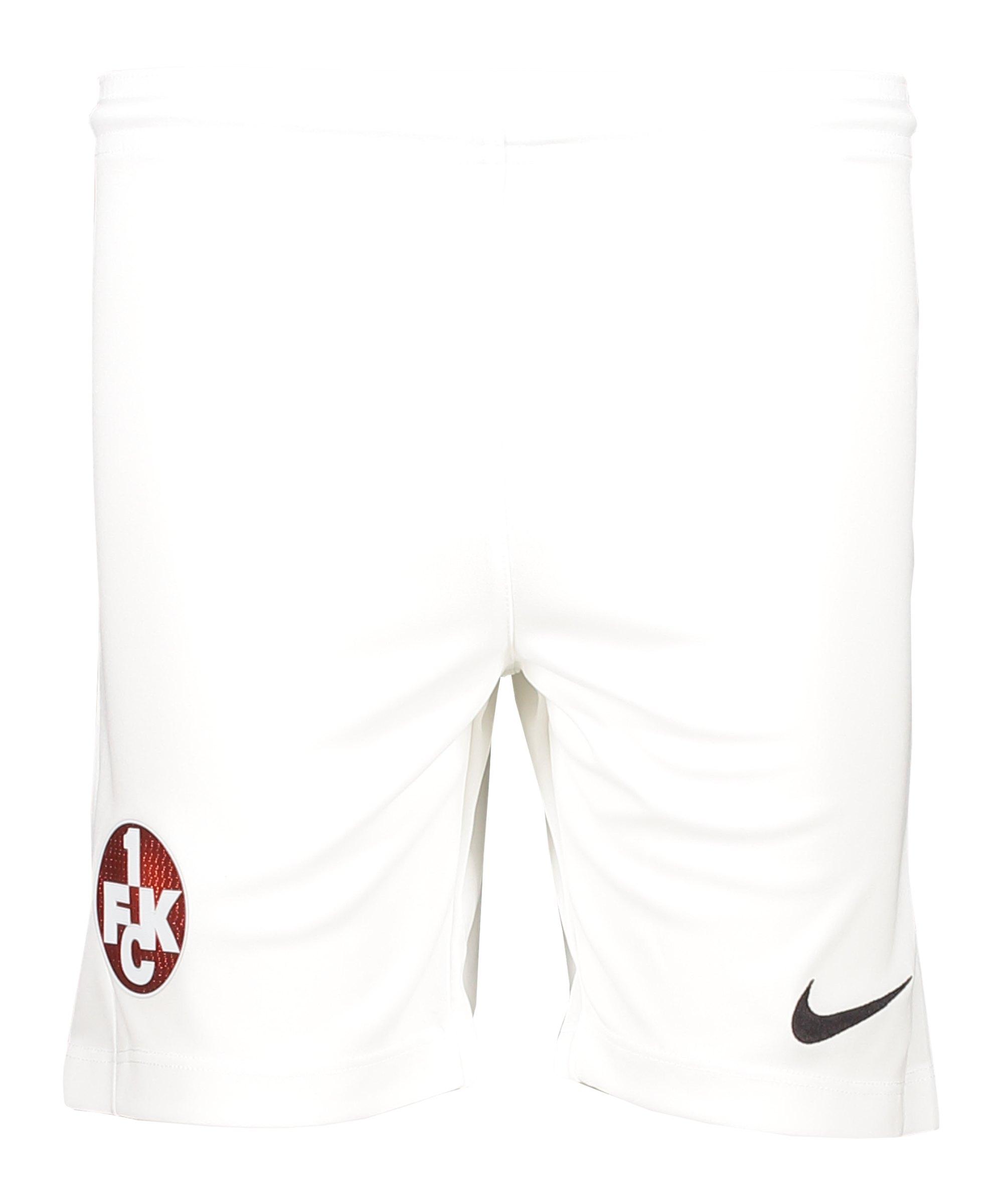 Nike 1. FC Kaiserslautern Short Home 2020/2021 Kids Weiss F100 - weiss