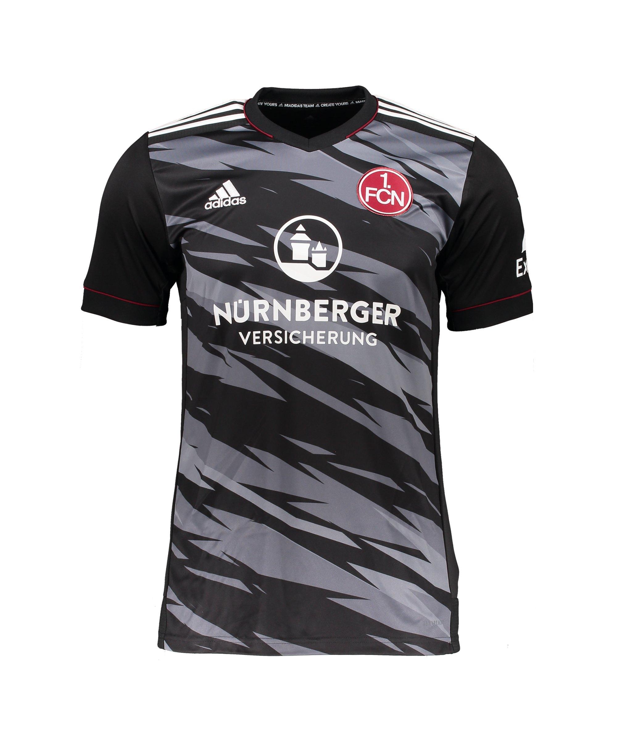 adidas 1. FC Nürnberg Trikot 3rd 2021/2022 Kids Schwarz - schwarz