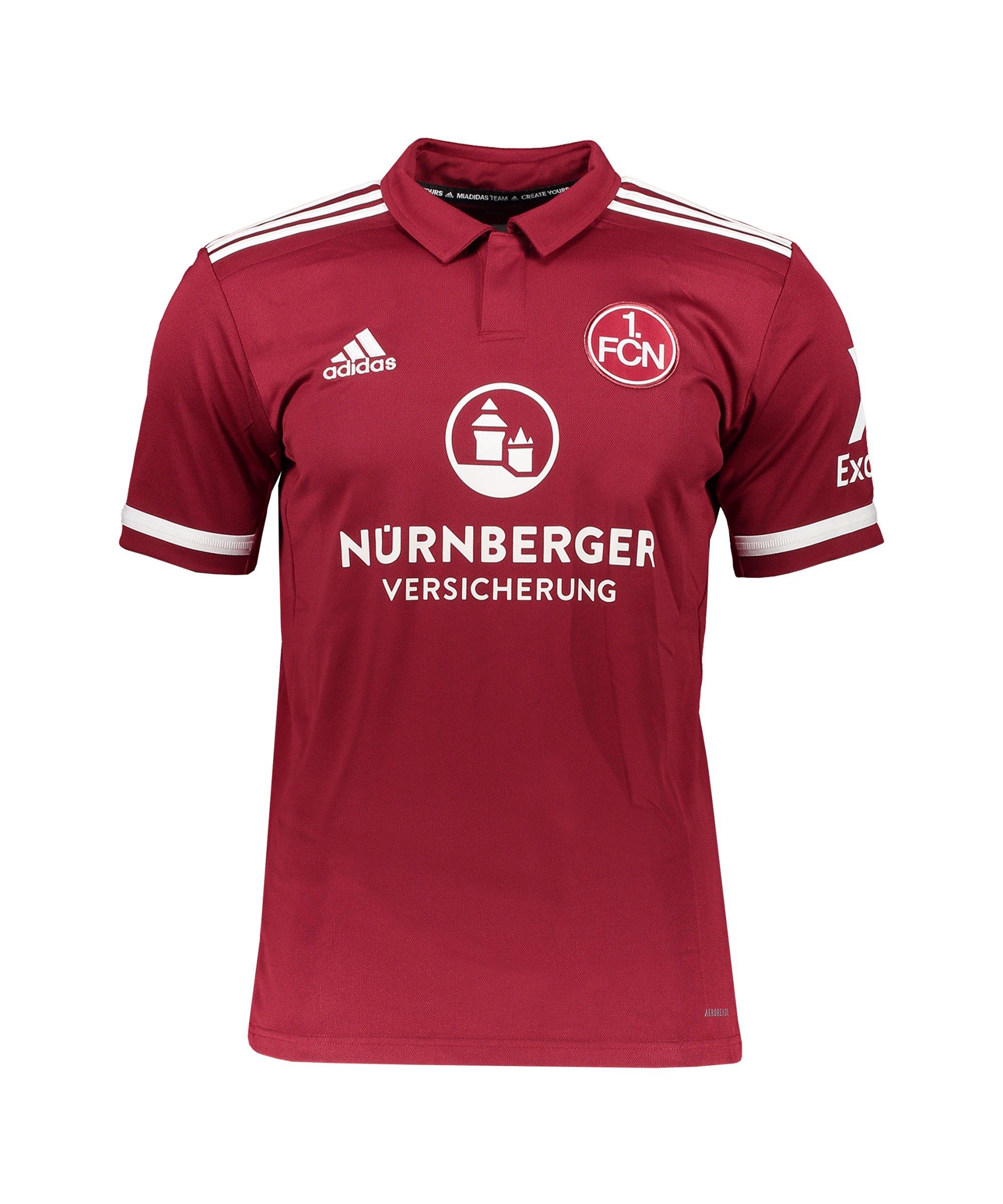 adidas 1. FC Nürnberg Trikot Home 2021/2022 Rot - rot