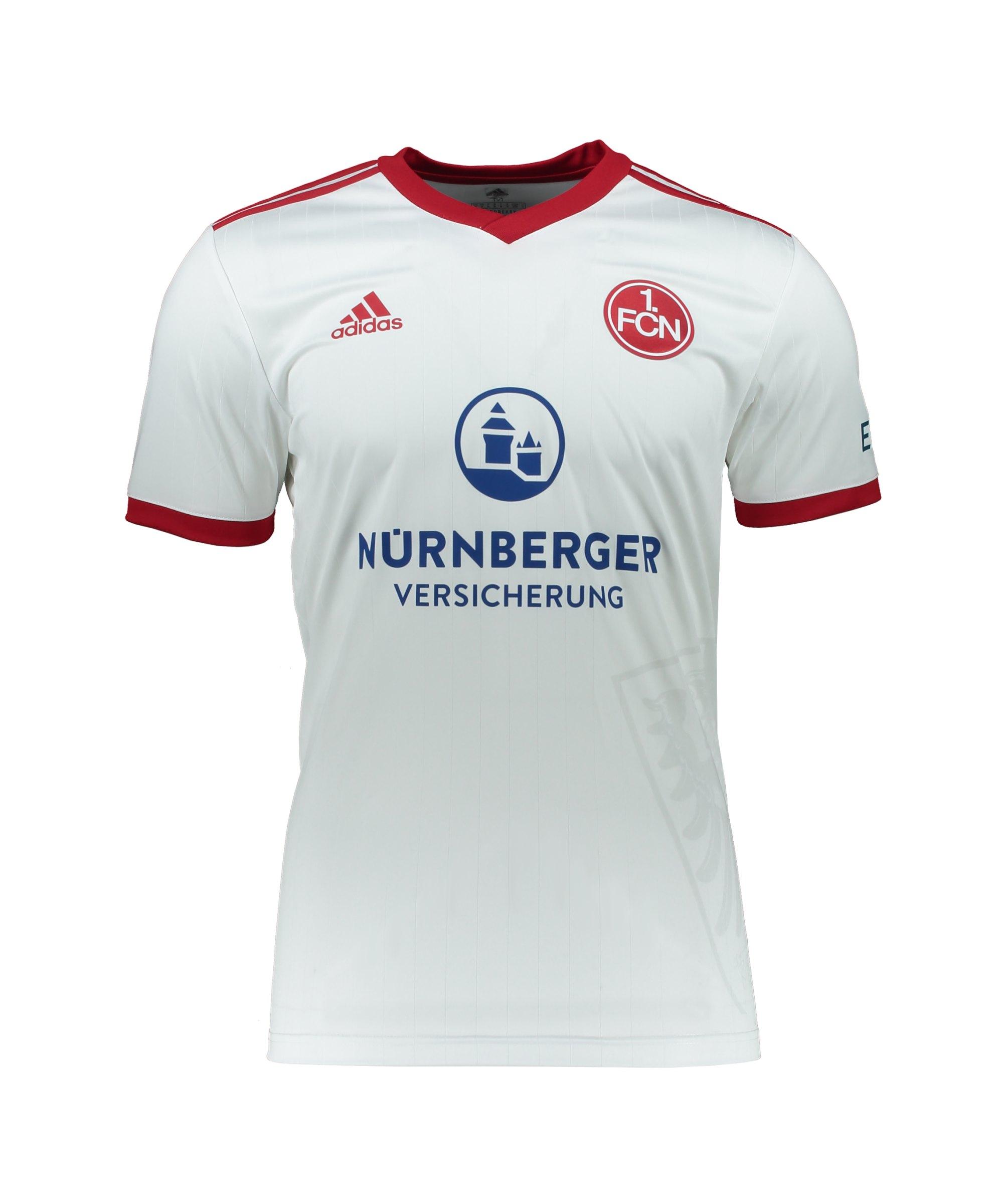 adidas 1. FC Nürnberg Trikot Away 2021/2022 Kids Weiss - weiss
