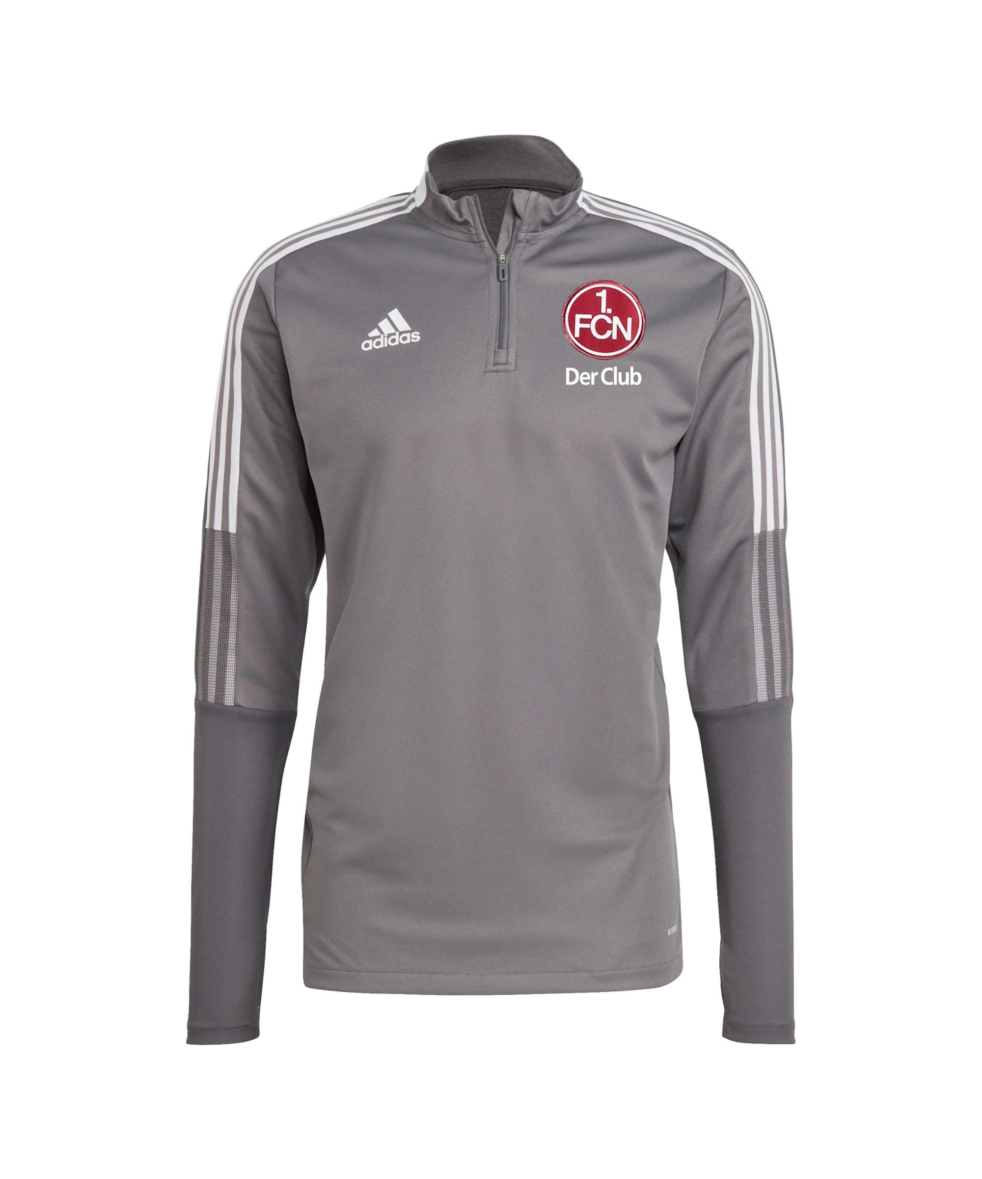 adidas 1. FC Nürnberg Trainingstop Grau - grau