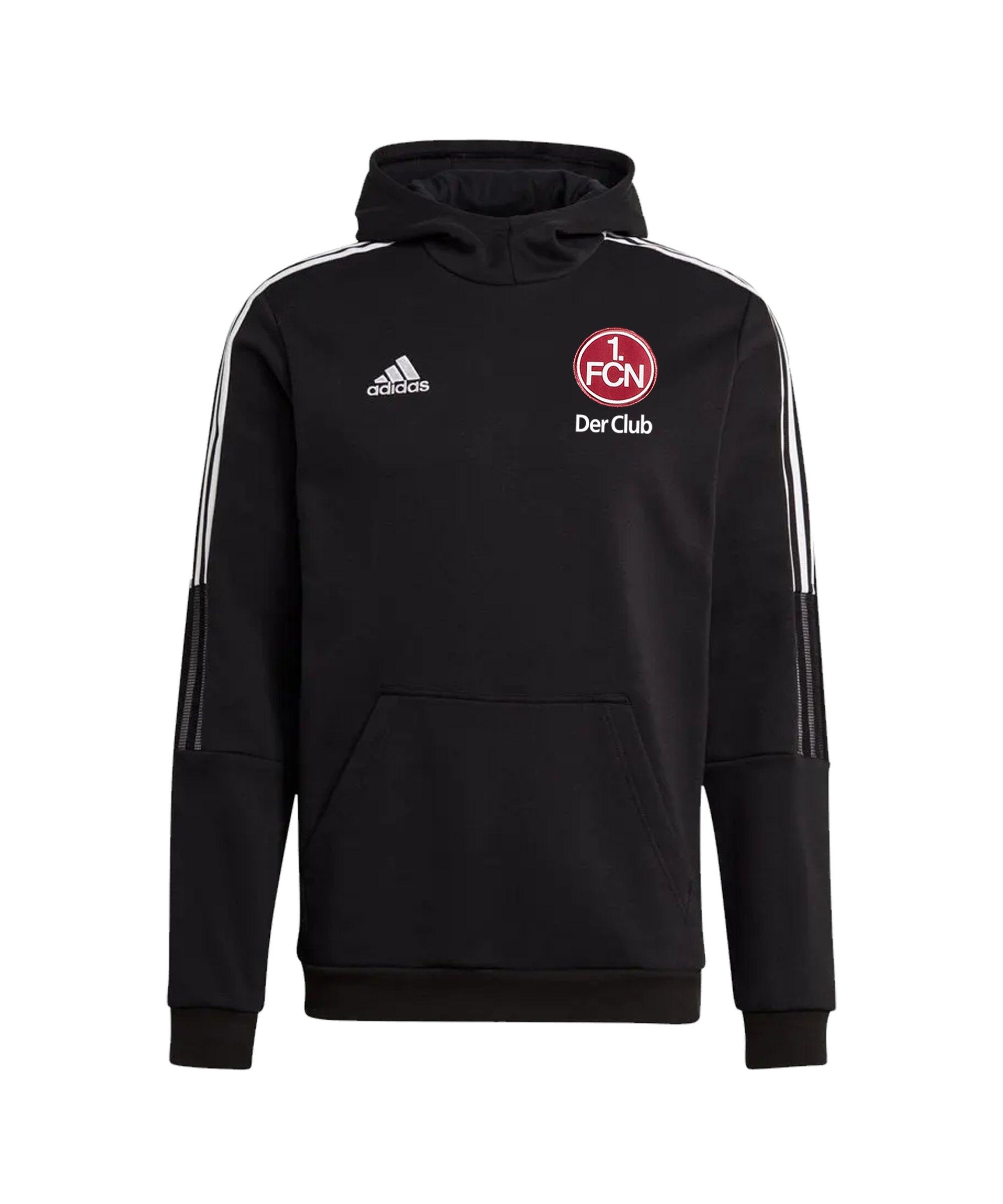 adidas 1. FC Nürnberg Hoody Schwarz - schwarz