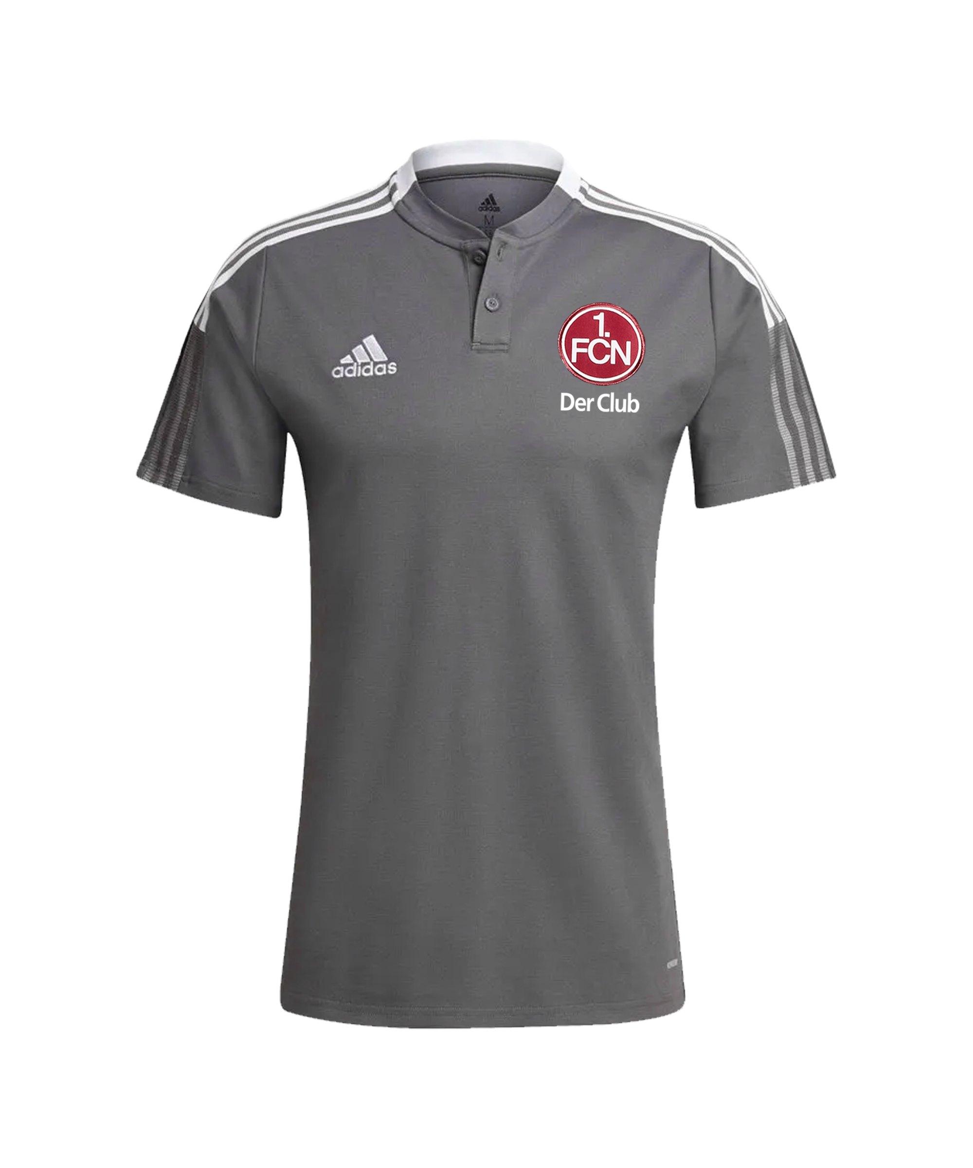 adidas 1. FC Nürnberg Polo Grau - grau