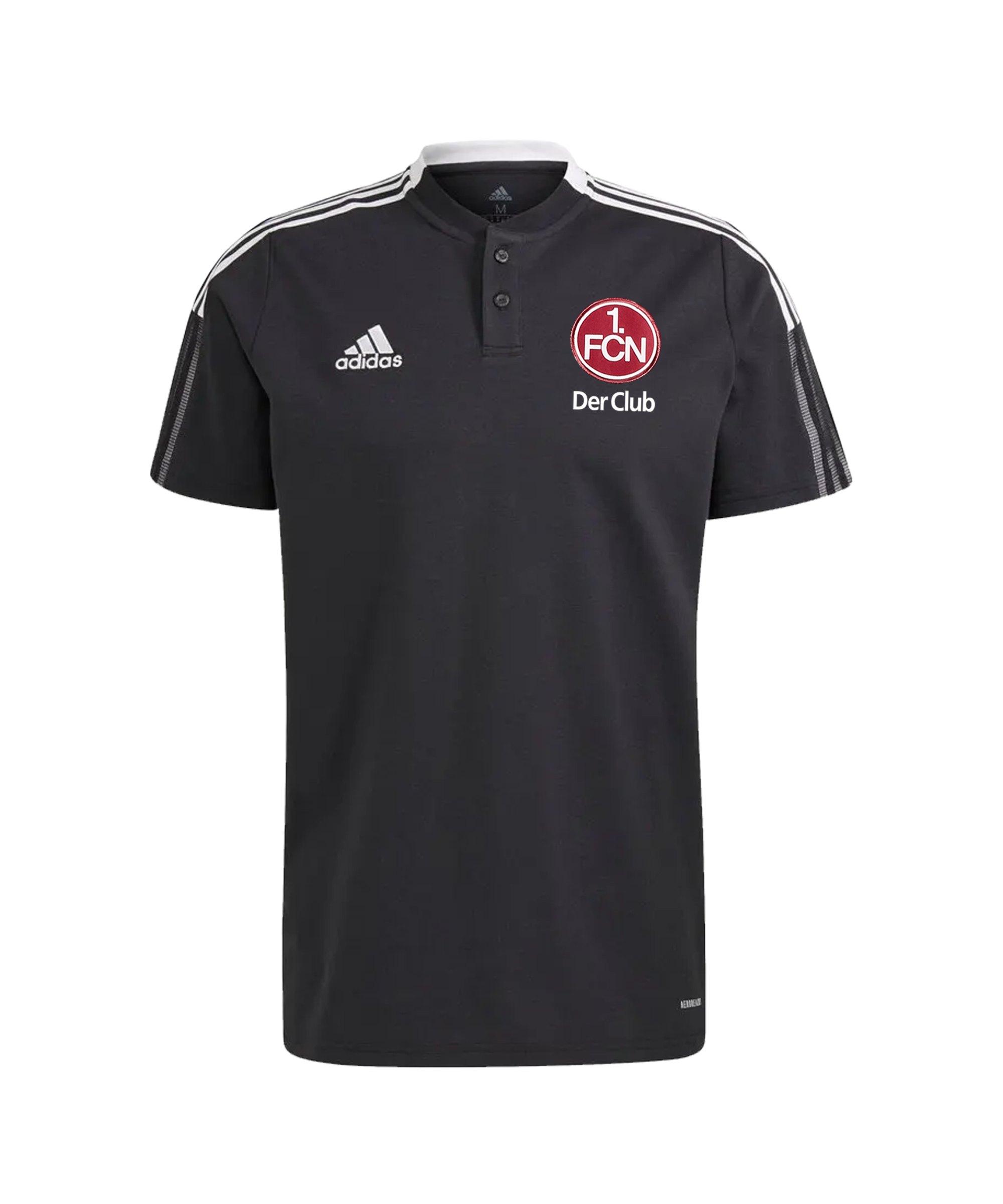 adidas 1. FC Nürnberg Polo Schwarz - schwarz