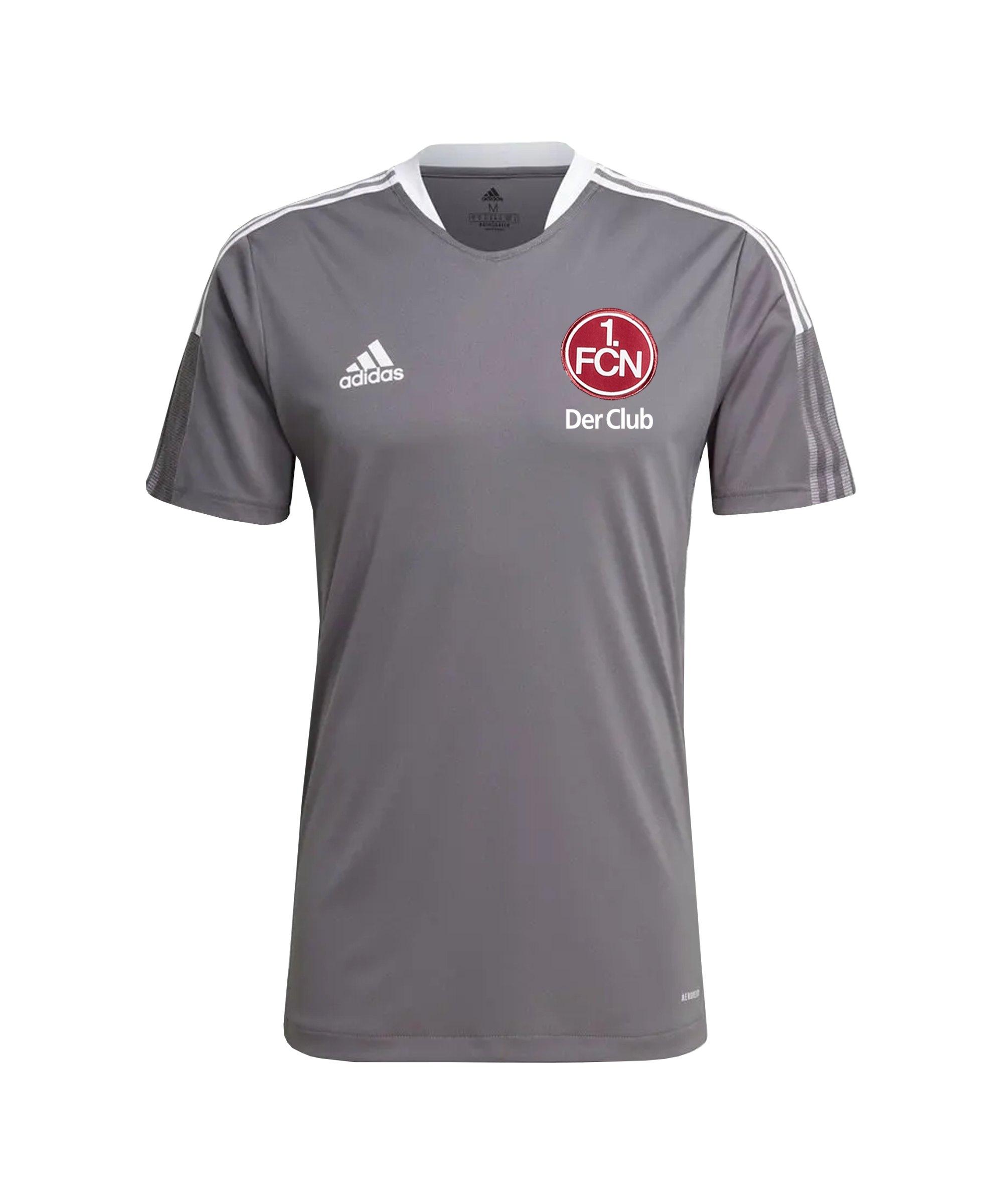 adidas 1. FC Nürnberg Trainingsshirt Kids Grau - grau