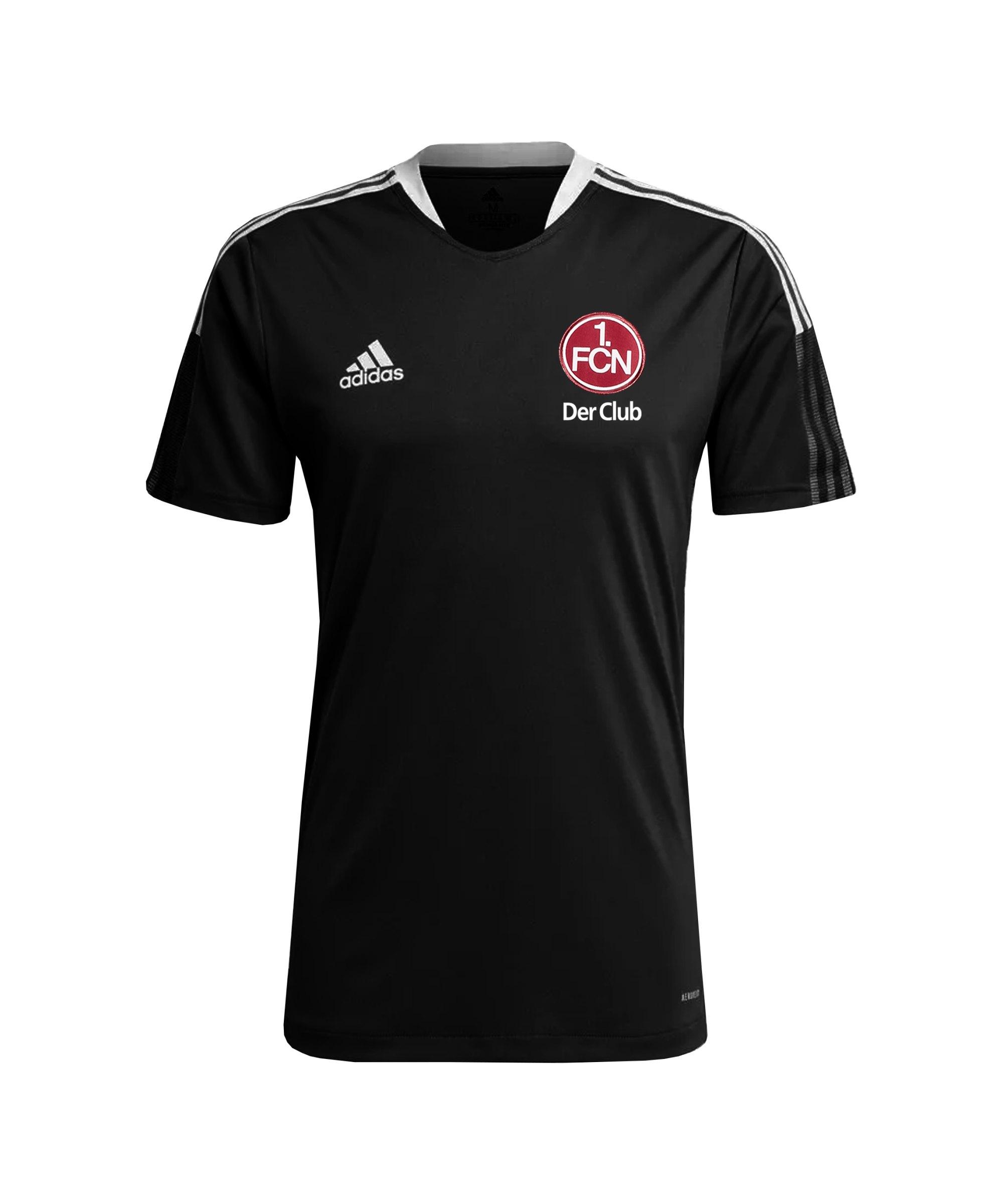 adidas 1. FC Nürnberg Trainingsshirt Schwarz - schwarz