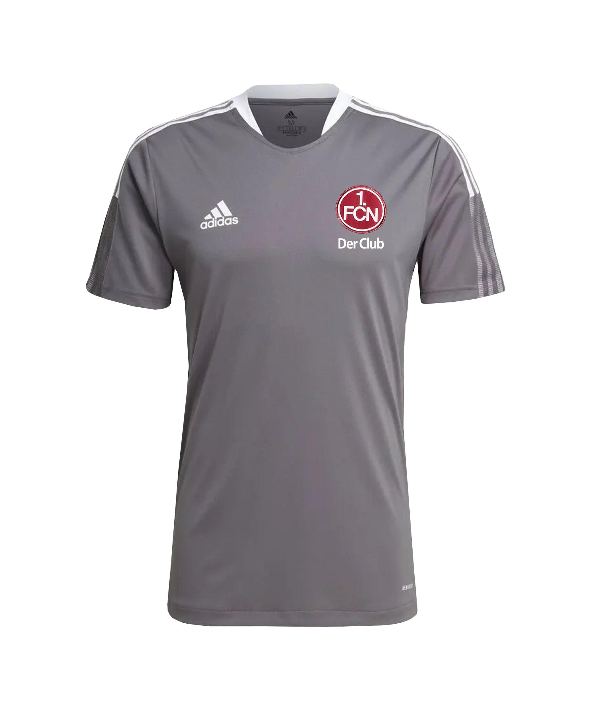 adidas 1. FC Nürnberg Trainingsshirt Grau - grau