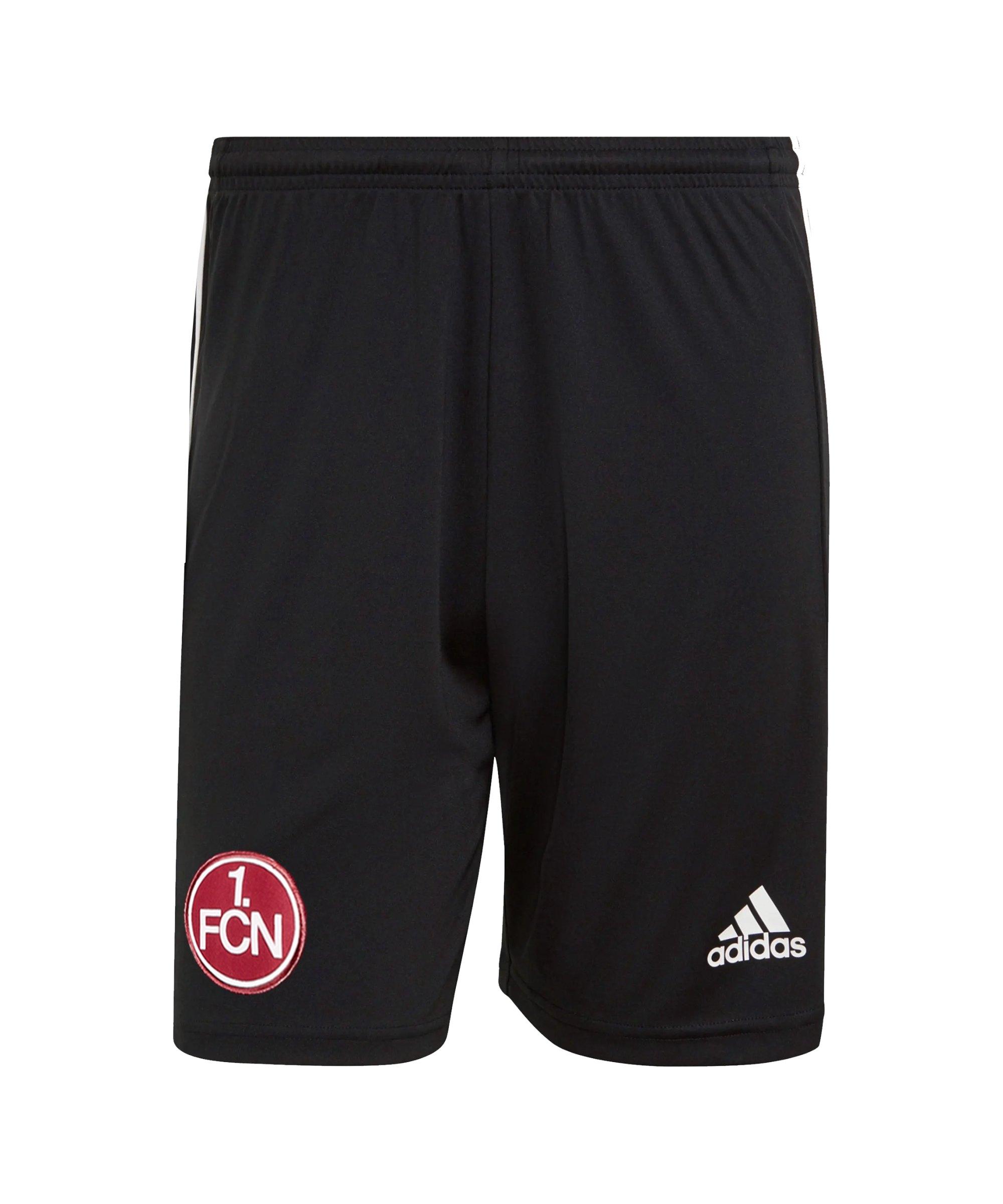 adidas 1. FC Nürnberg Trainingsshort Schwarz - schwarz