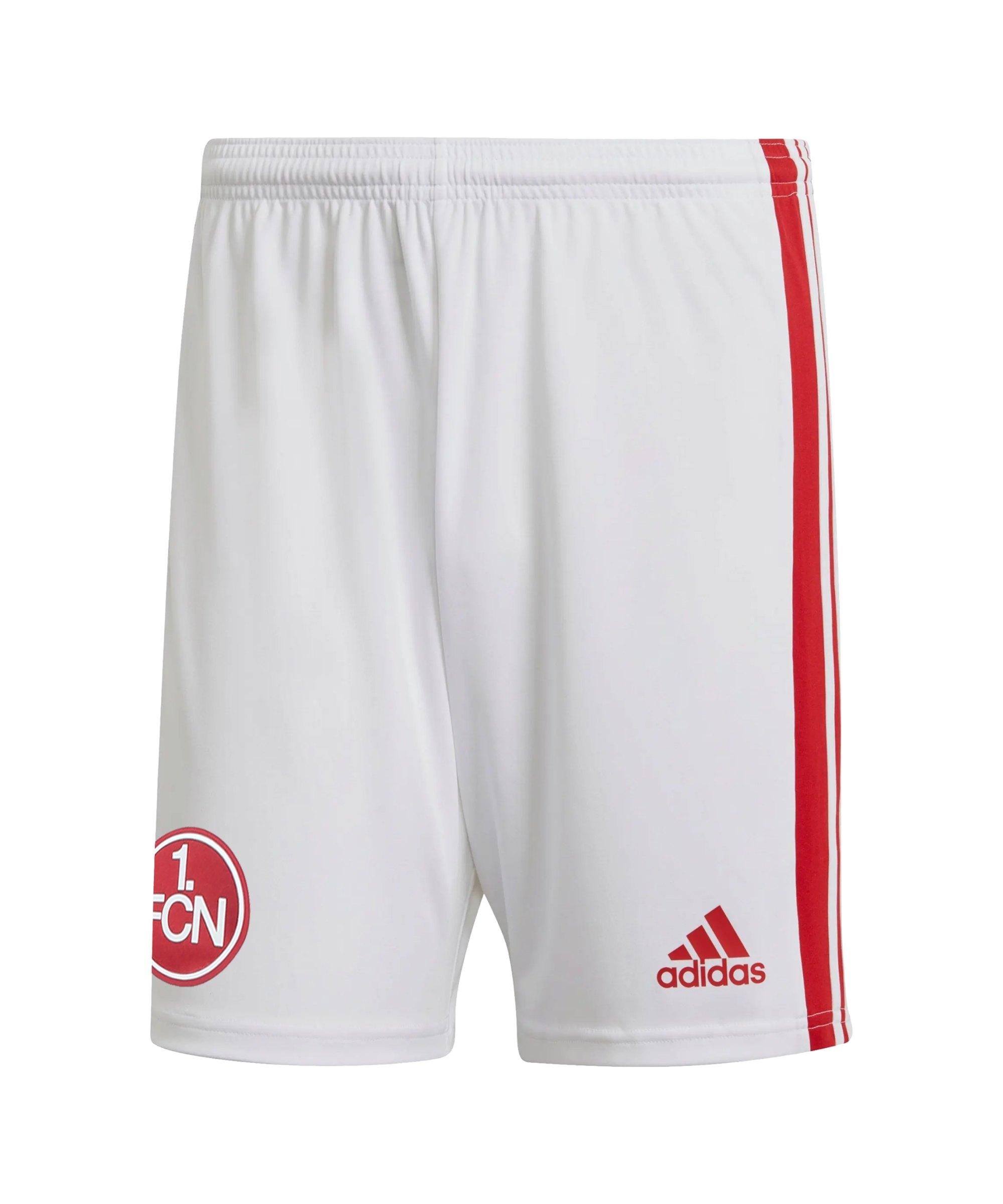 adidas 1. FC Nürnberg Short Away 21/22 Weiss - weiss