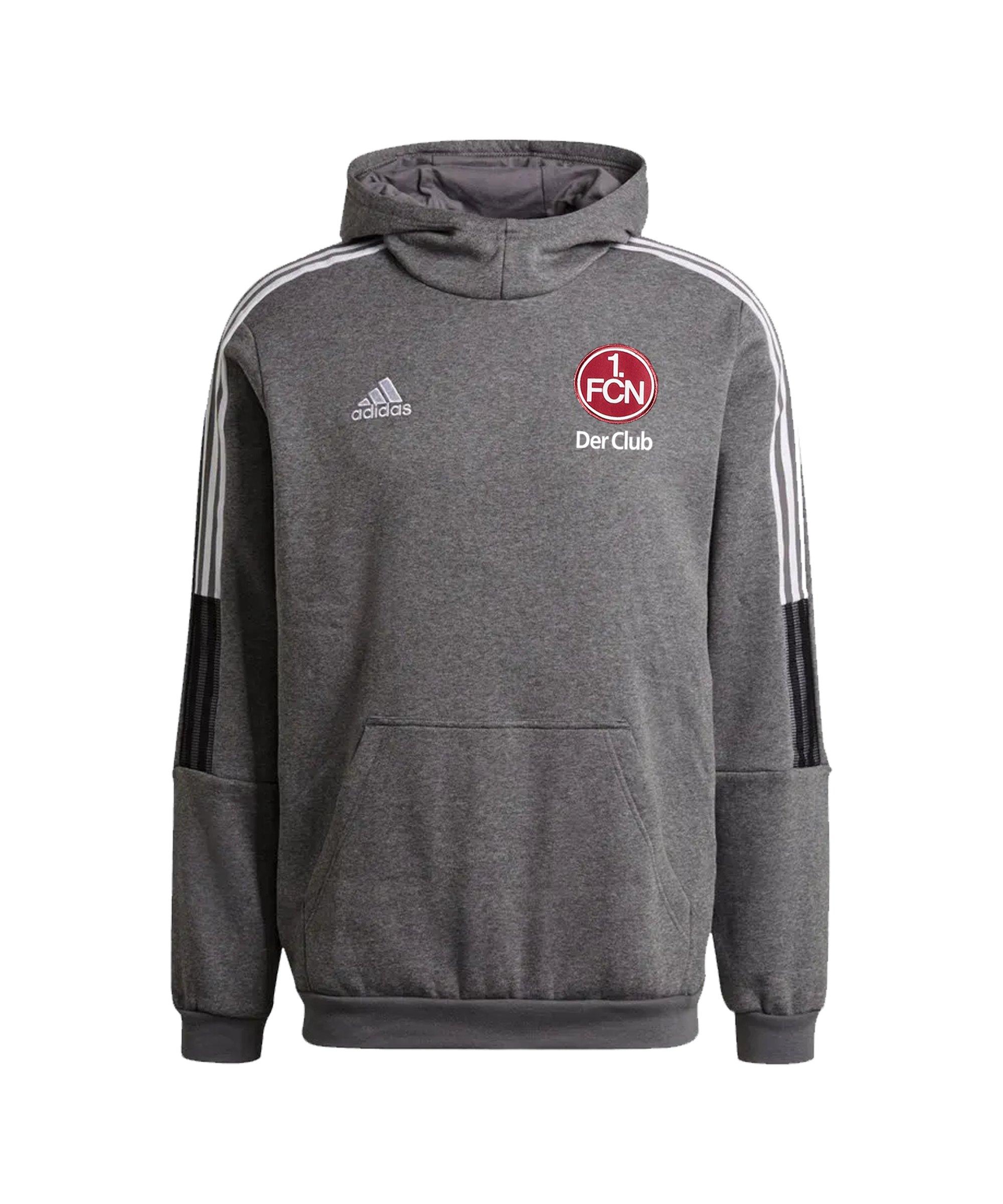 adidas 1. FC Nürnberg Hoody Grau - grau