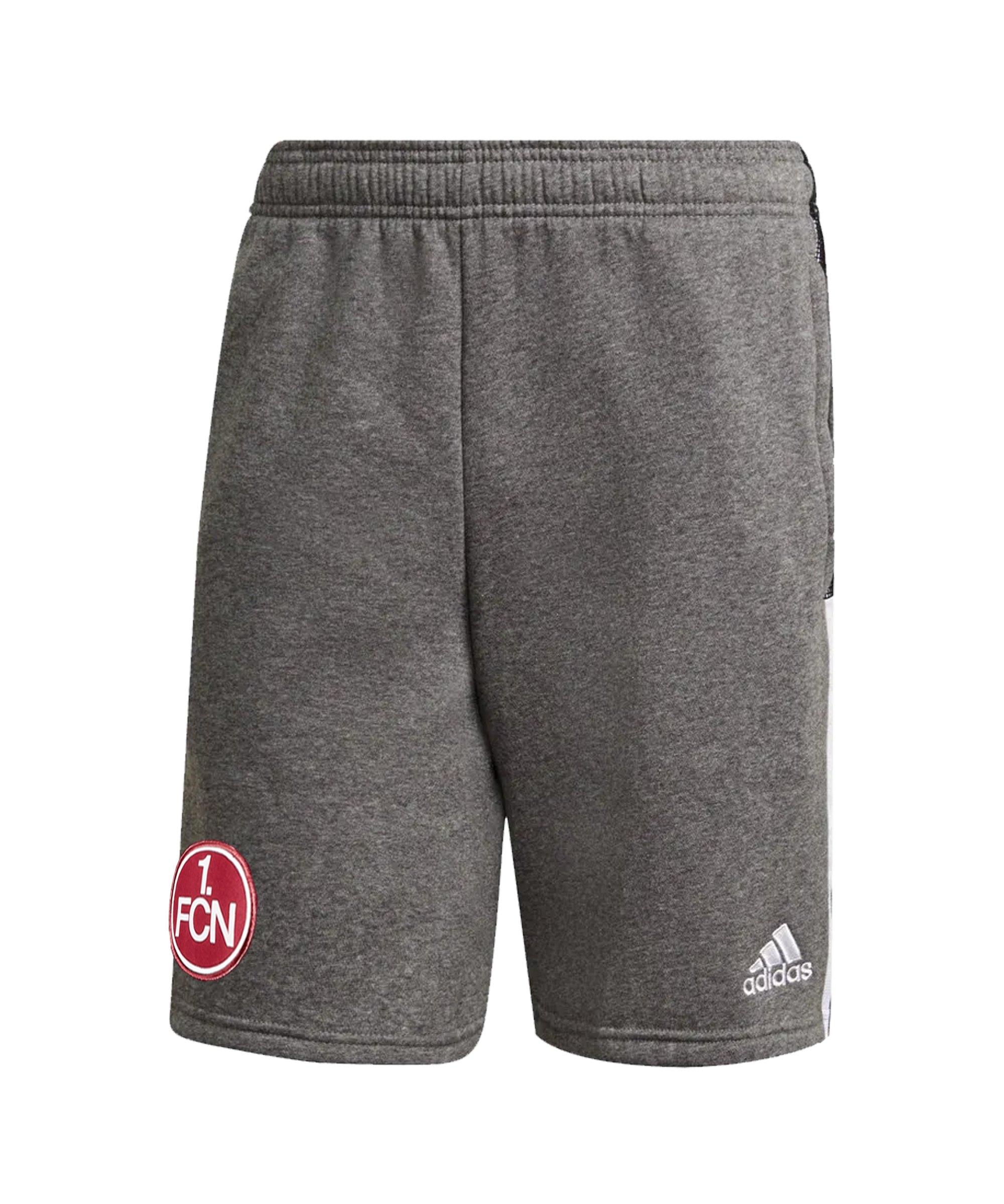 adidas 1. FC Nürnberg Short Grau - grau