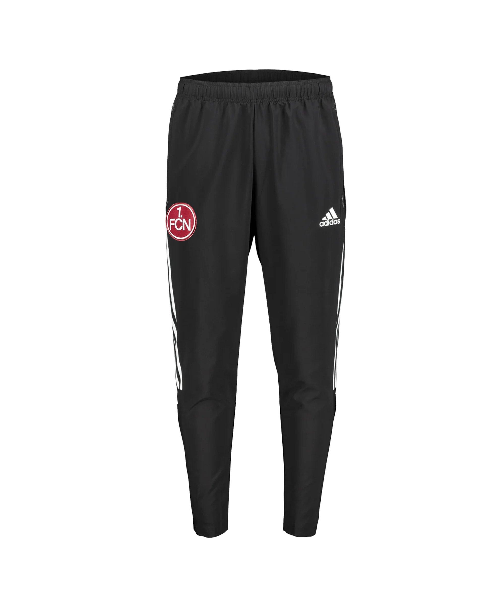adidas 1. FC Nürnberg Trainingshose Kids Schwarz - schwarz