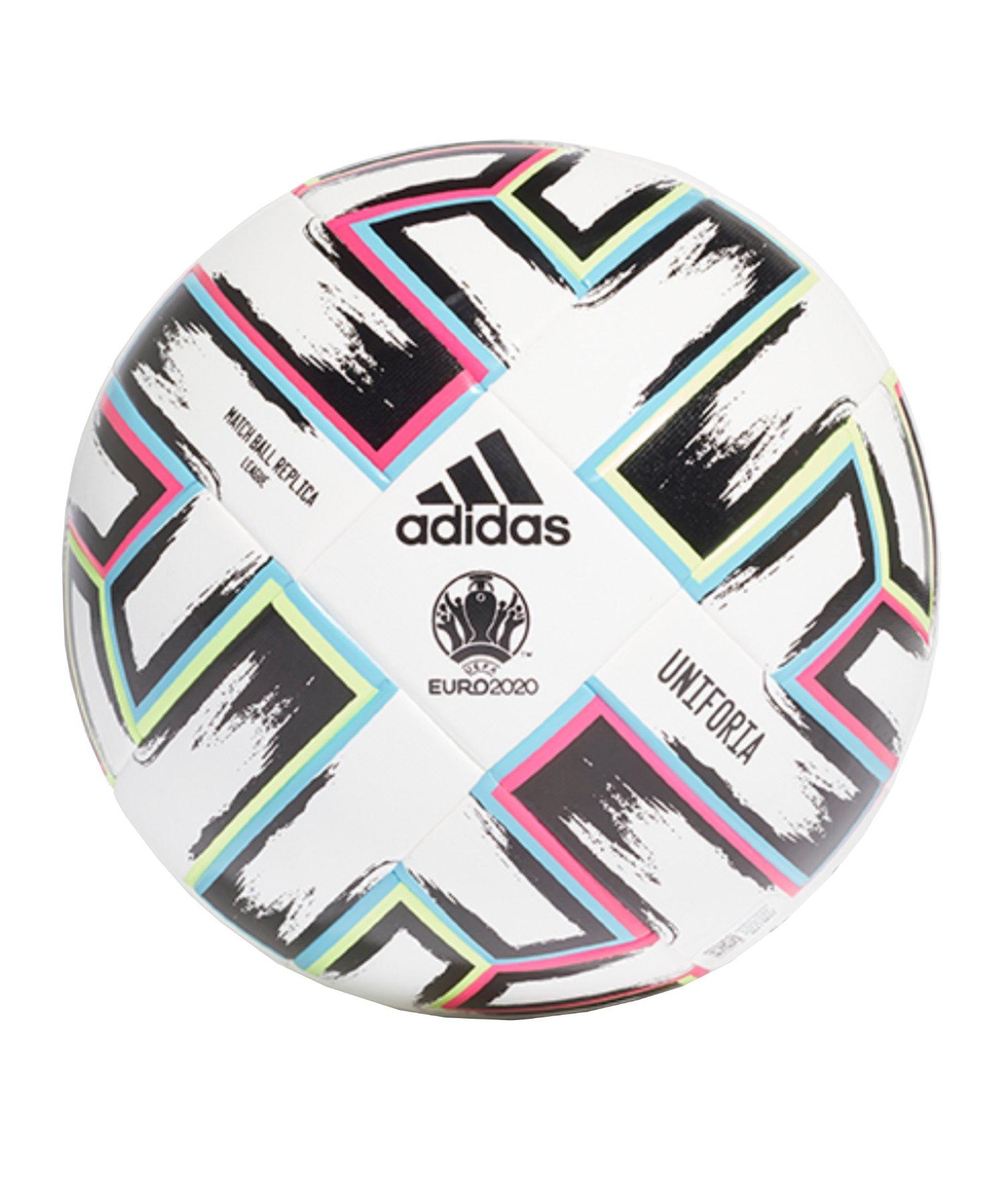 adidas LGE Uniforia Trainingsball Weiss Schwarz - weiss