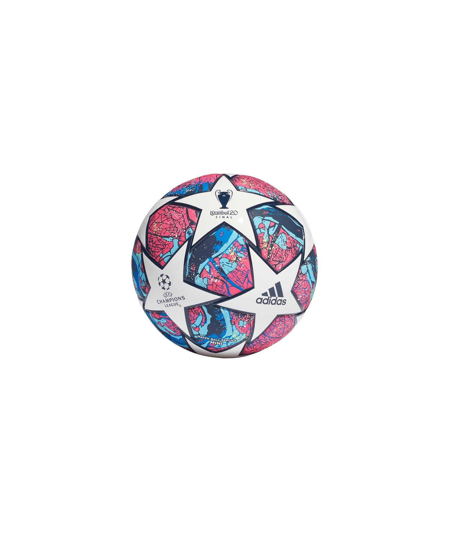 adidas Finale Miniball Weiss Blau - weiss