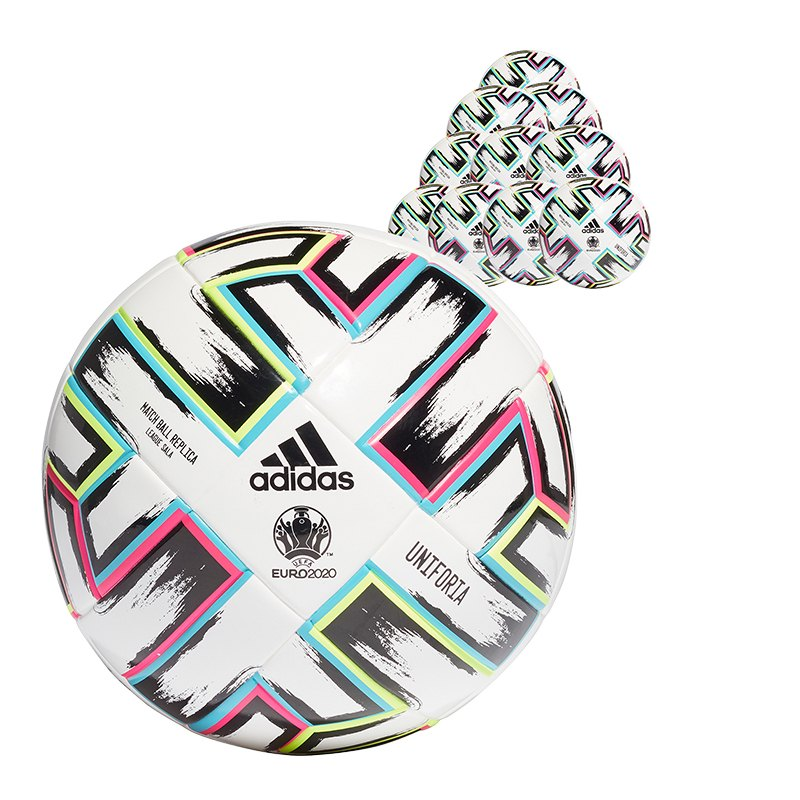 adidas LGE Uniforia Trainingsball Futsal 10x Gr.3 Weiss - weiss