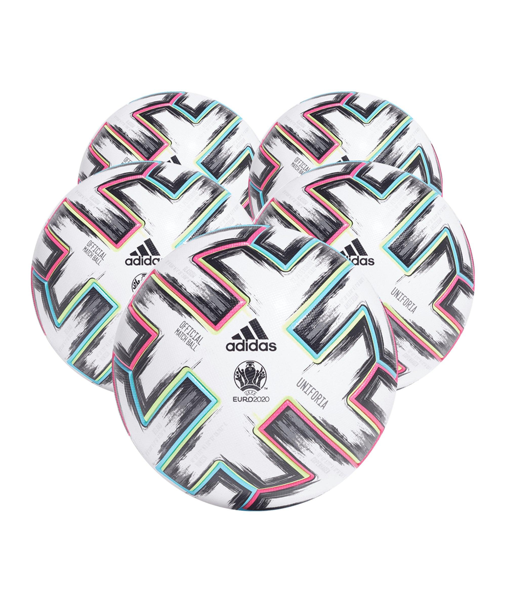 adidas PRO Uniforia EM 2020 Fussball 5x Gr.5 Weiss - weiss
