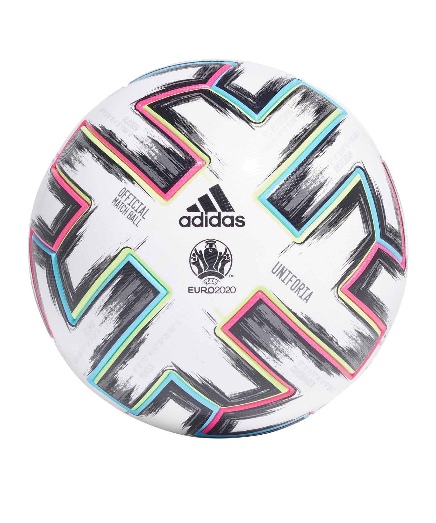 adidas PRO Uniforia EM 2020 Spielball Weiss - weiss