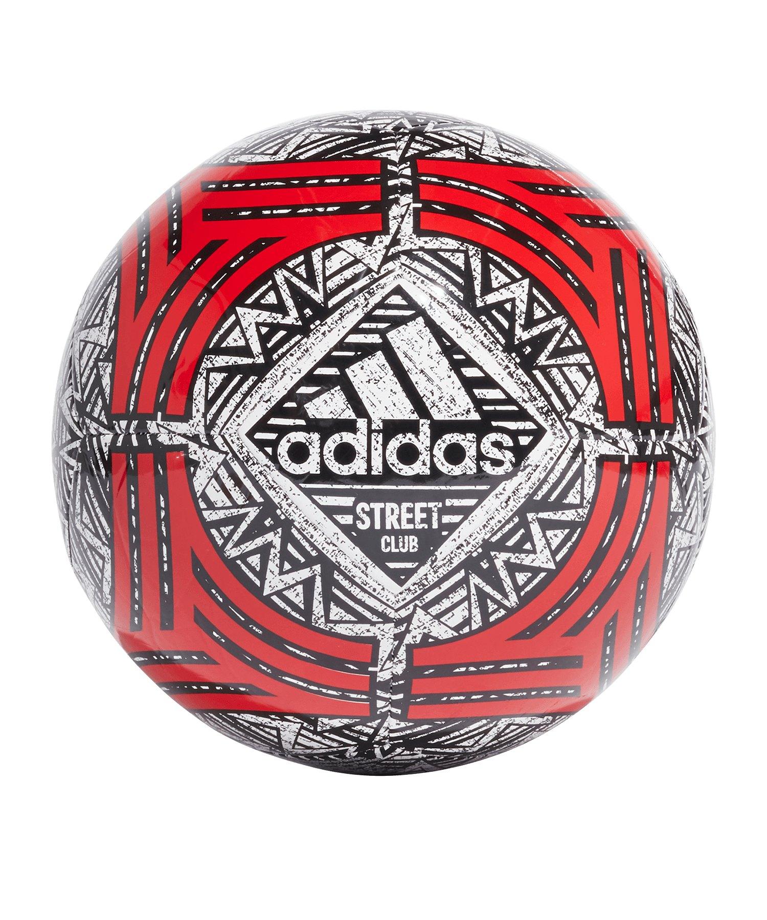 adidas Tango CLB Trainingsball Weiss Rot - weiss