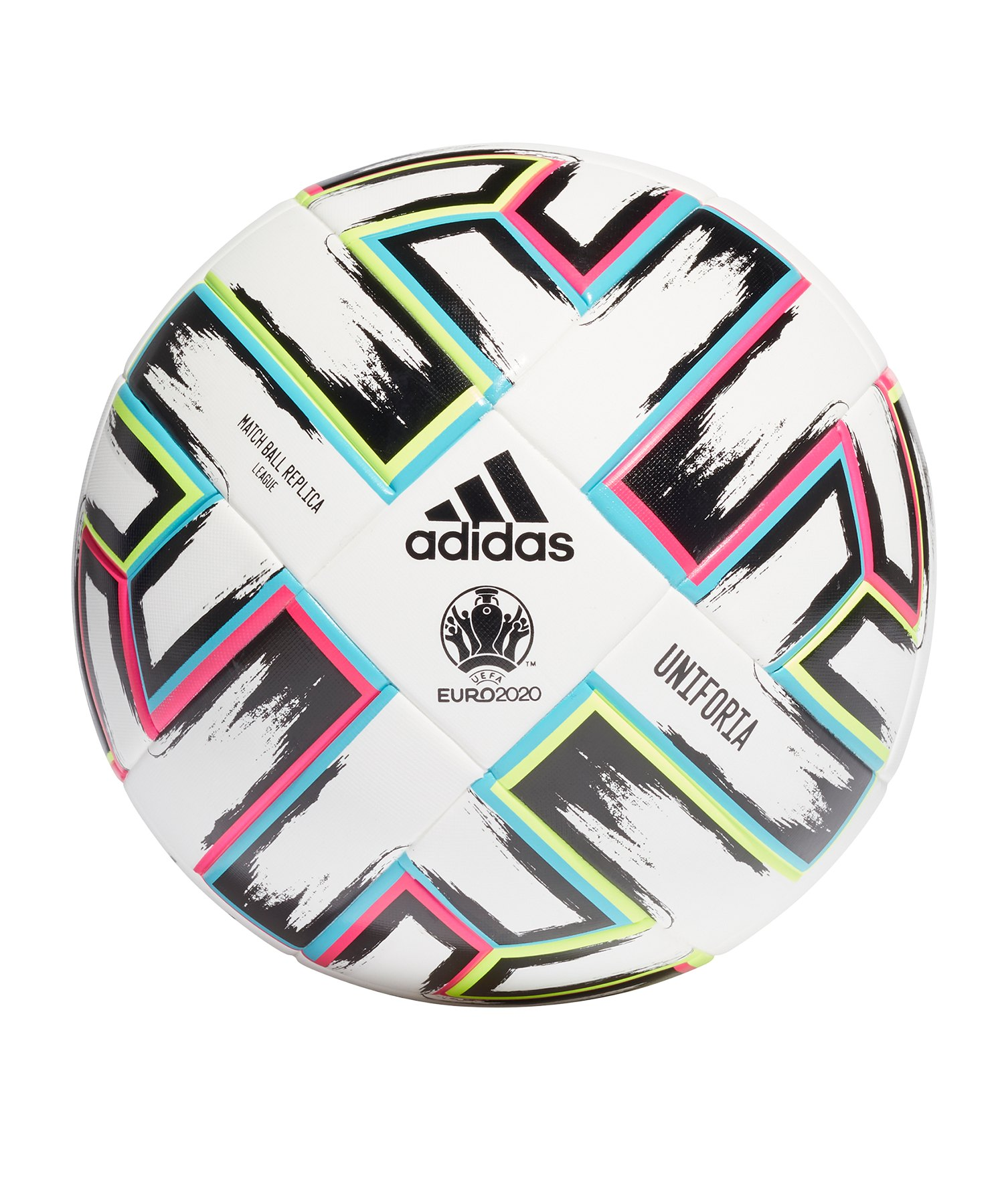 adidas EM 2020 Uniforia Trainingsball Replik Weiss - weiss