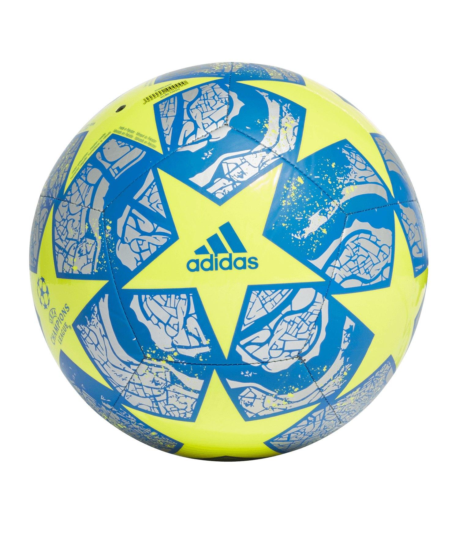 adidas Finale Istanbul CL Trainingsball Gelb Blau - weiss