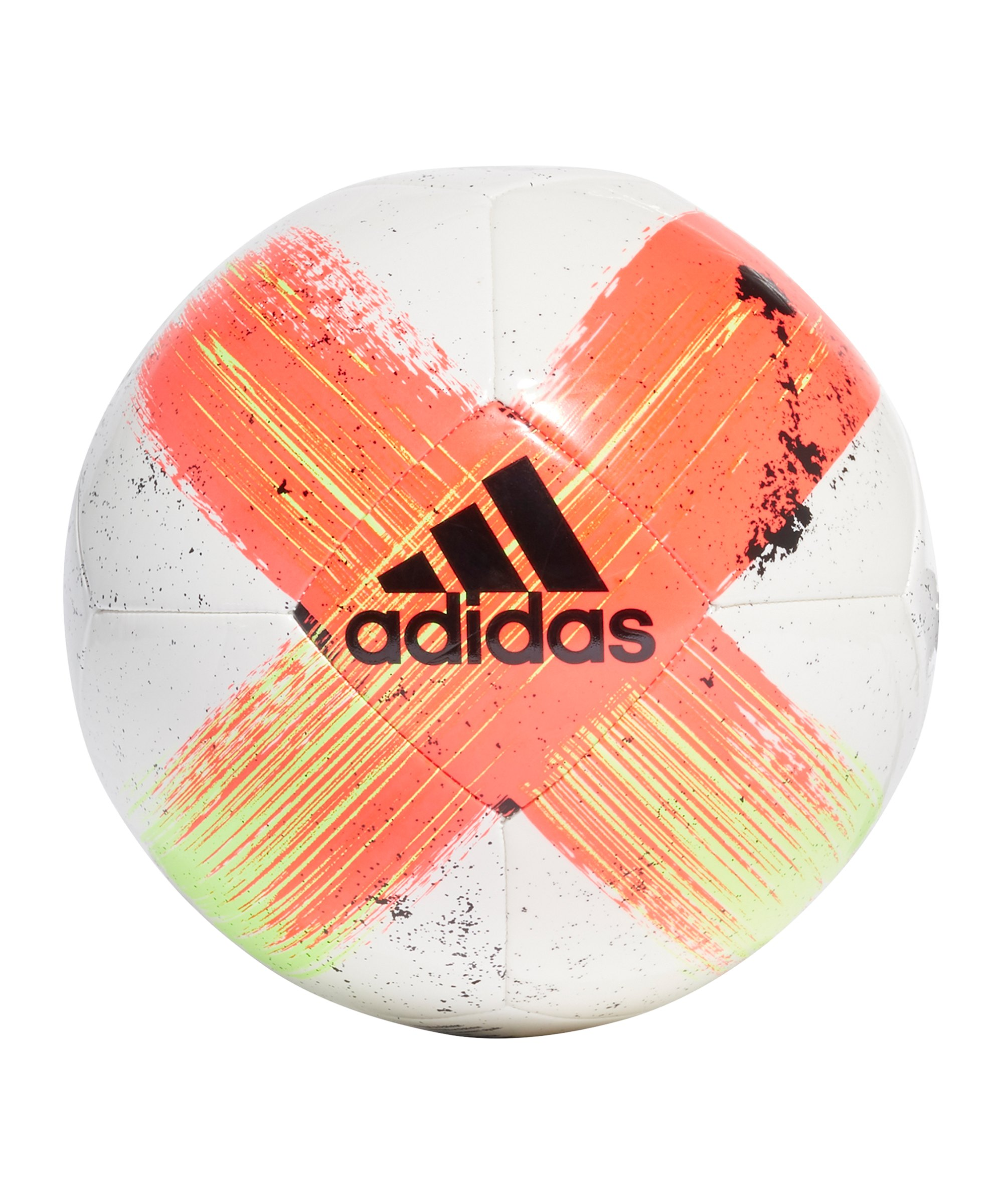 adidas Capitano CLB Trainingsball Weiss Rot - weiss