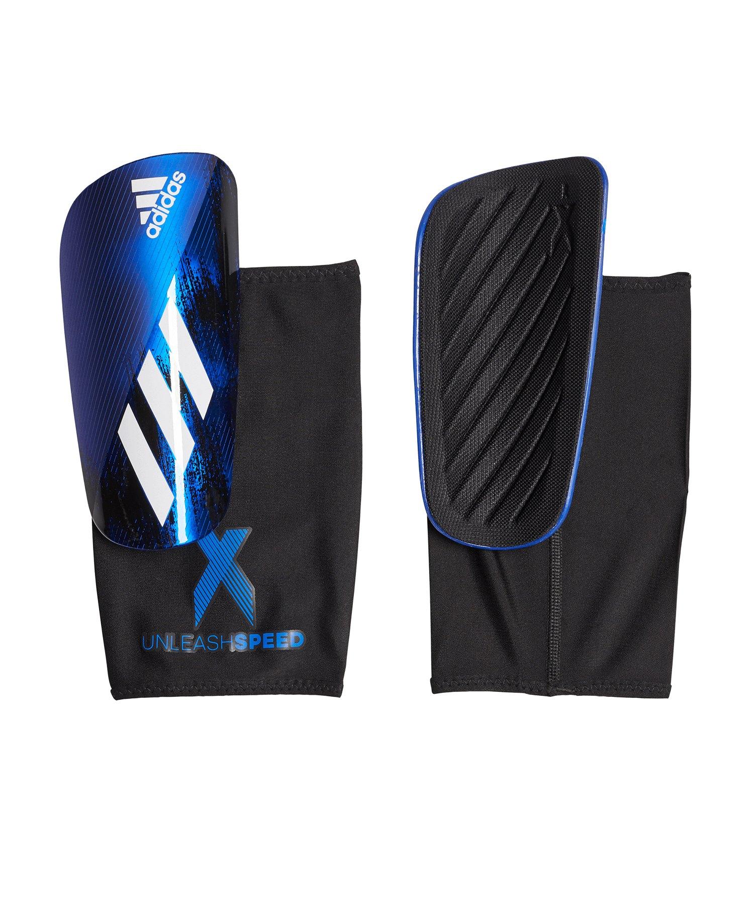 adidas X LGE Schienbeinschoner Schwarz Blau - schwarz