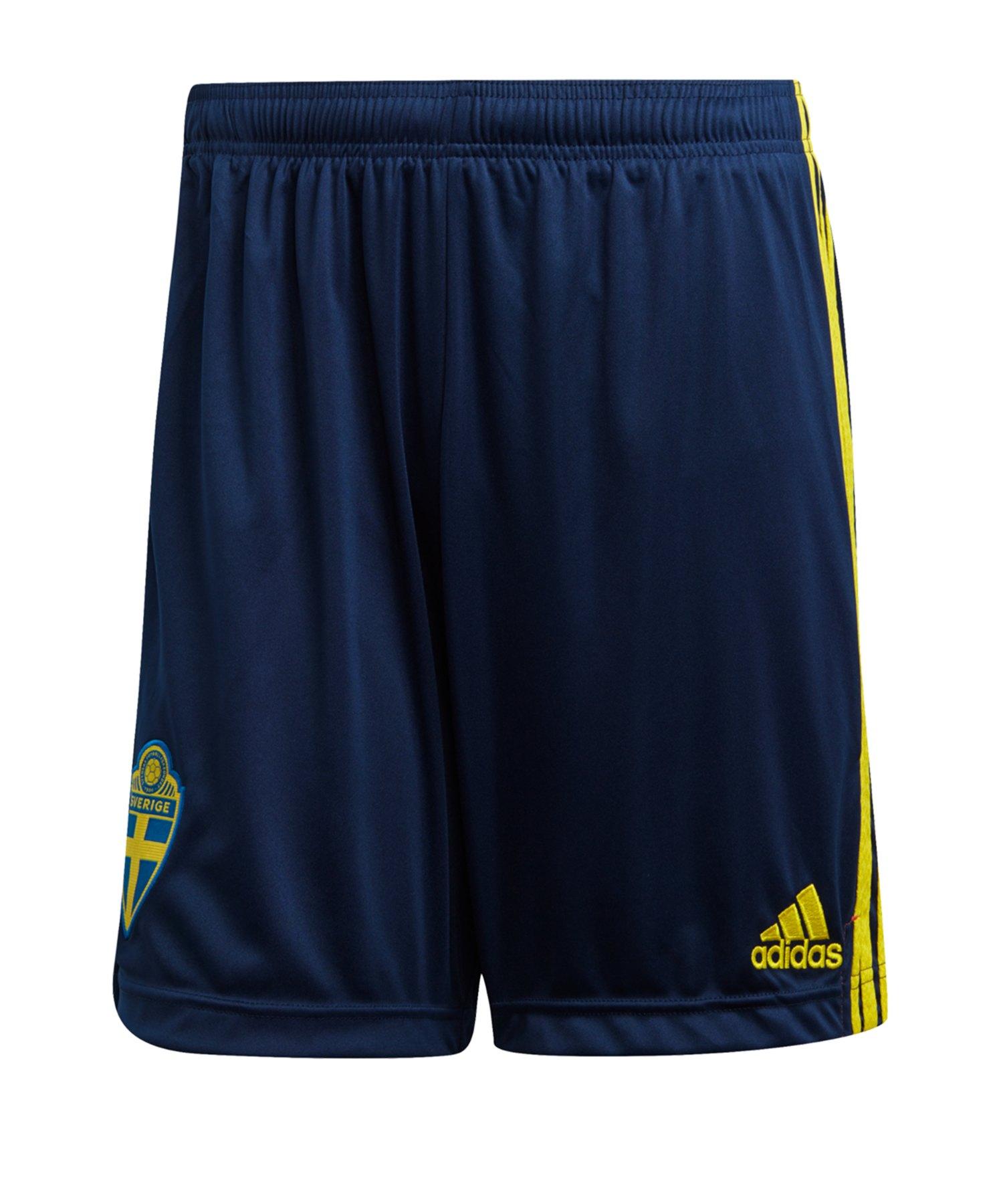 adidas Schweden Short Home EM 2020 Blau Gelb - blau