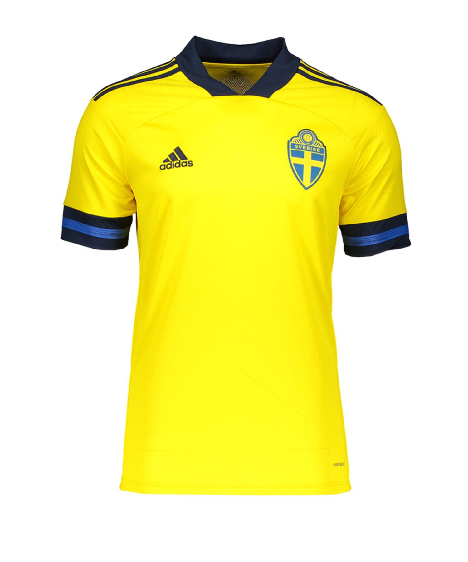 adidas Schweden Trikot Home EM 2020 Kids Gelb - gelb