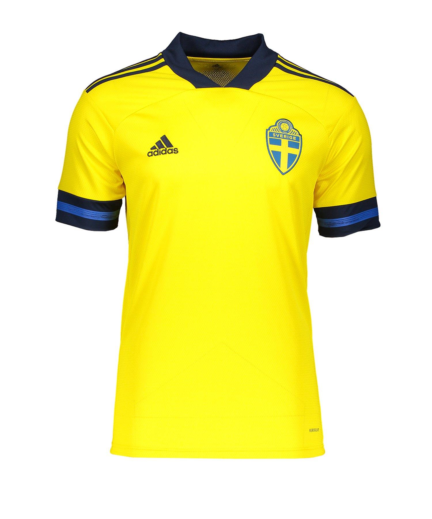 adidas Schweden Trikot Home EM 2020 Gelb - gelb