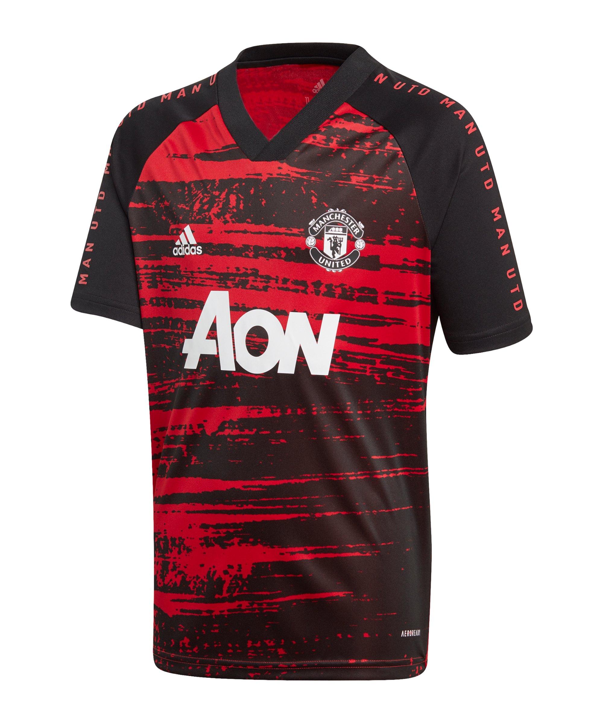 adidas Manchester United Prematch Shirt Kids Rot - rot