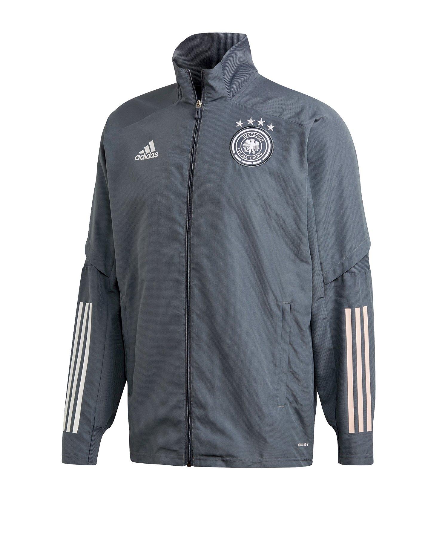 adidas DFB Deutschland Trainingsjacke Pre Grau - grau