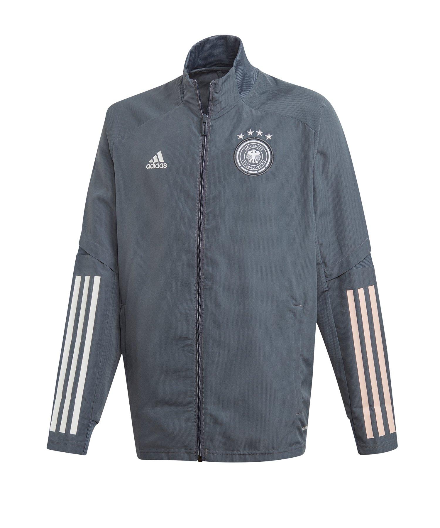 adidas DFB Deutschland Trainingsjacke Kids Grau - grau