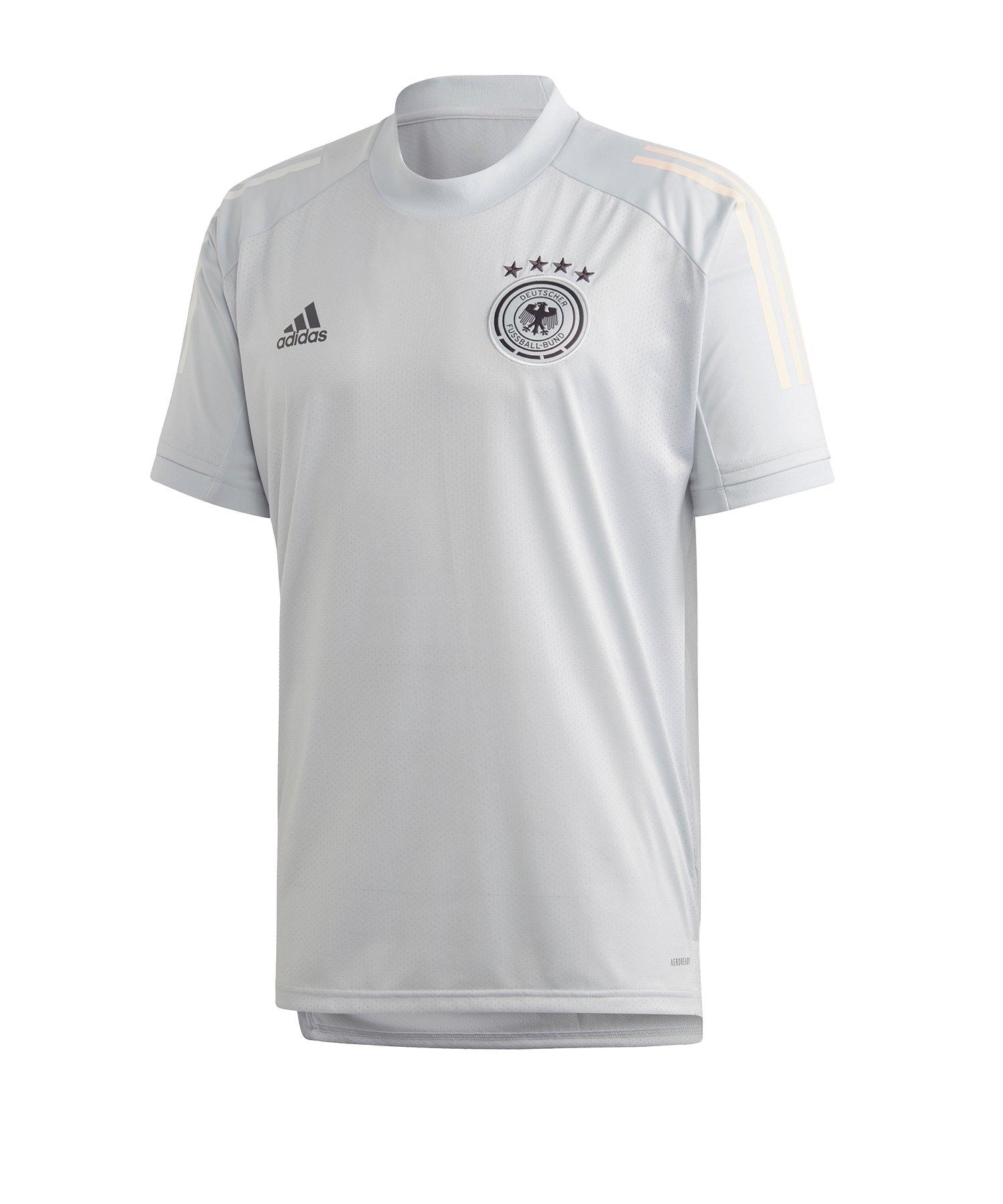 adidas DFB Deutschland Trainingsshirt Hellgrau - weiss