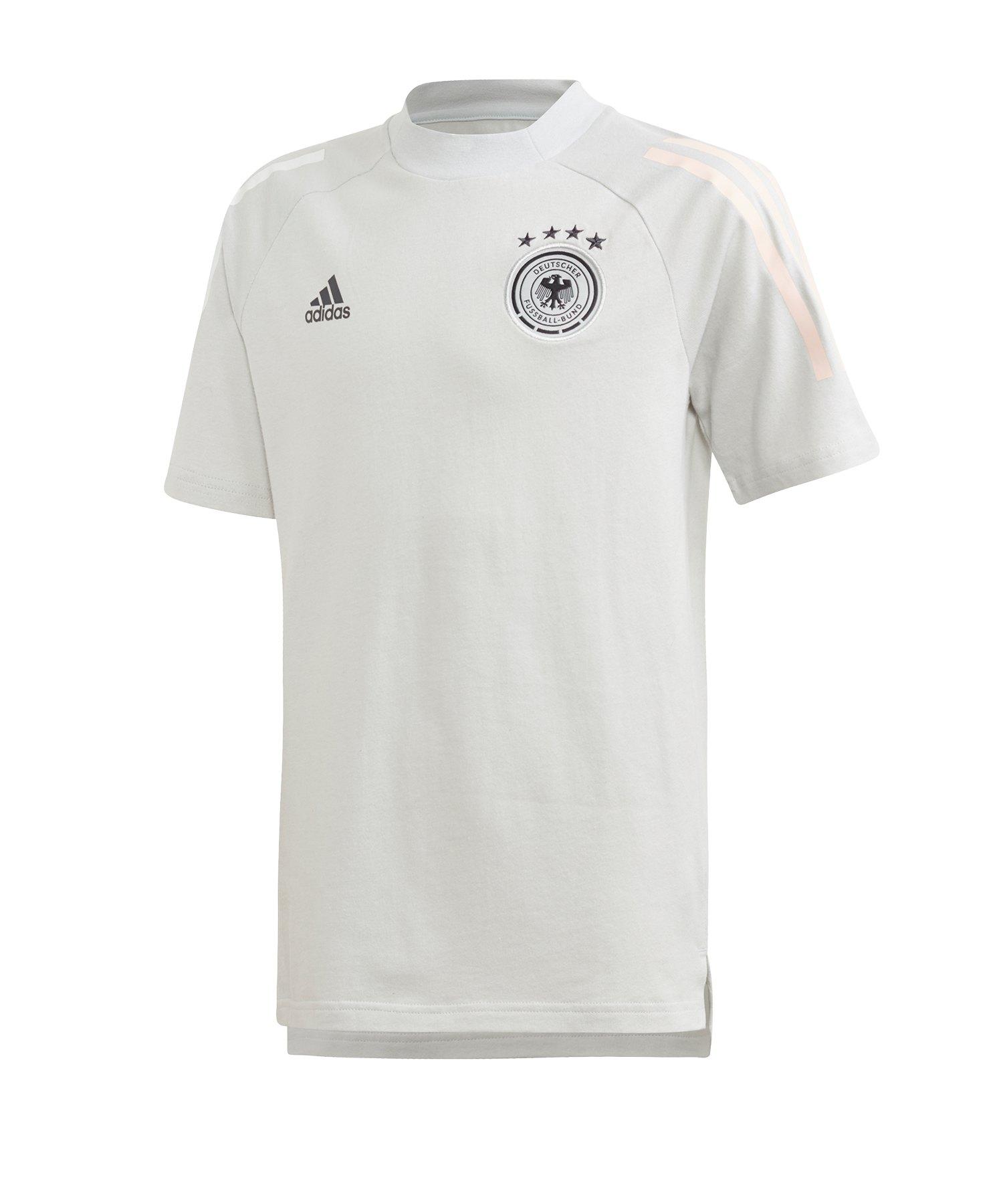 adidas DFB Deutschland Tee T-Shirt Kids Hellgrau - grau