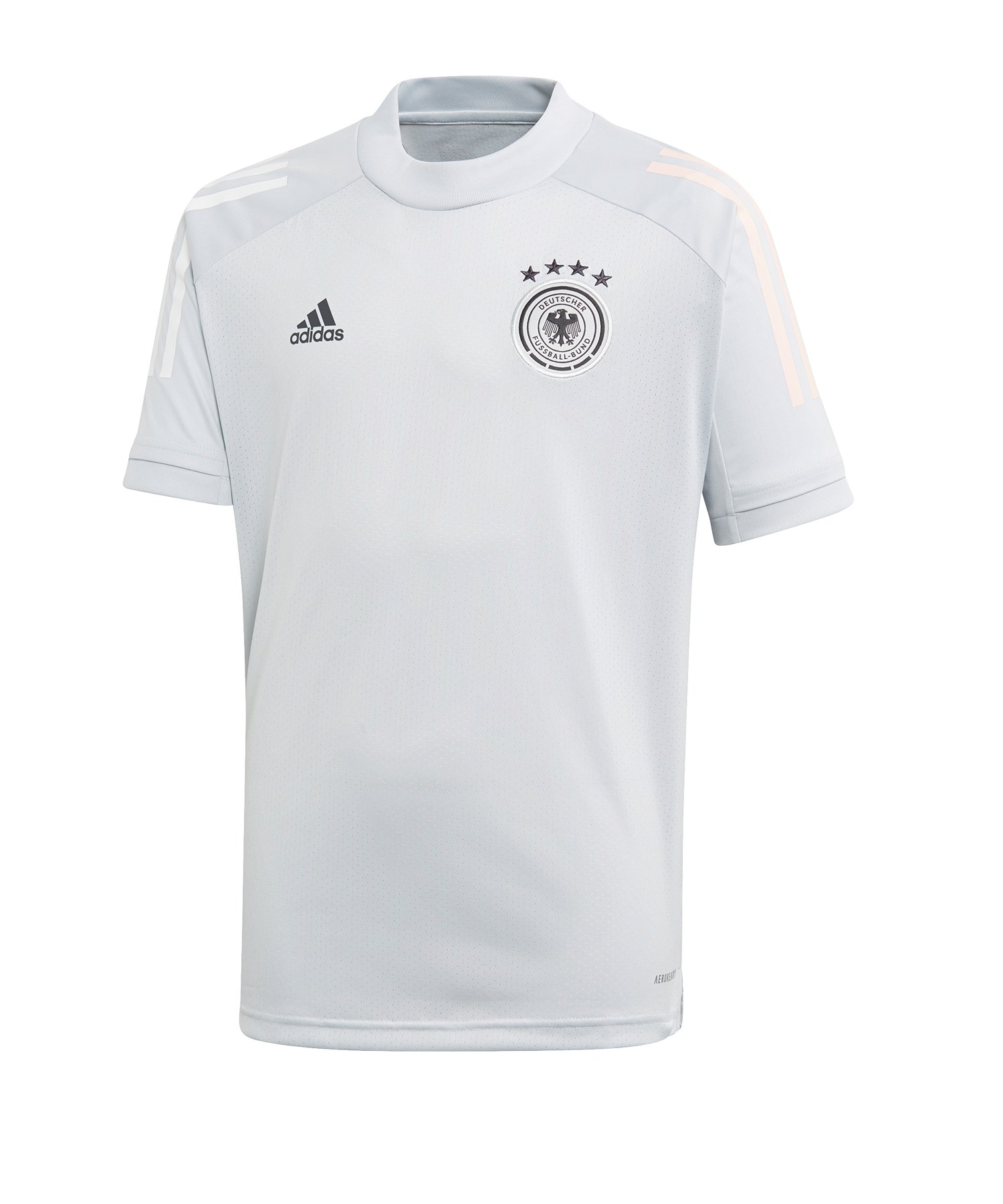 adidas DFB Deutschland Trainingsshirt Kids Hellgrau - weiss