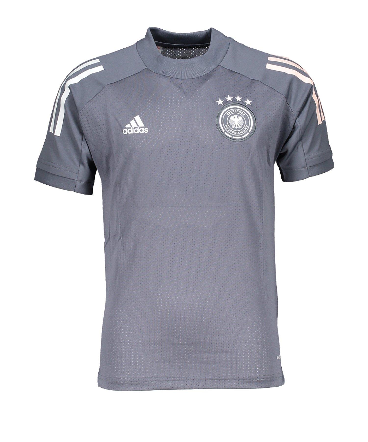 adidas DFB Deutschland Trainingsshirt Kids Grau - grau