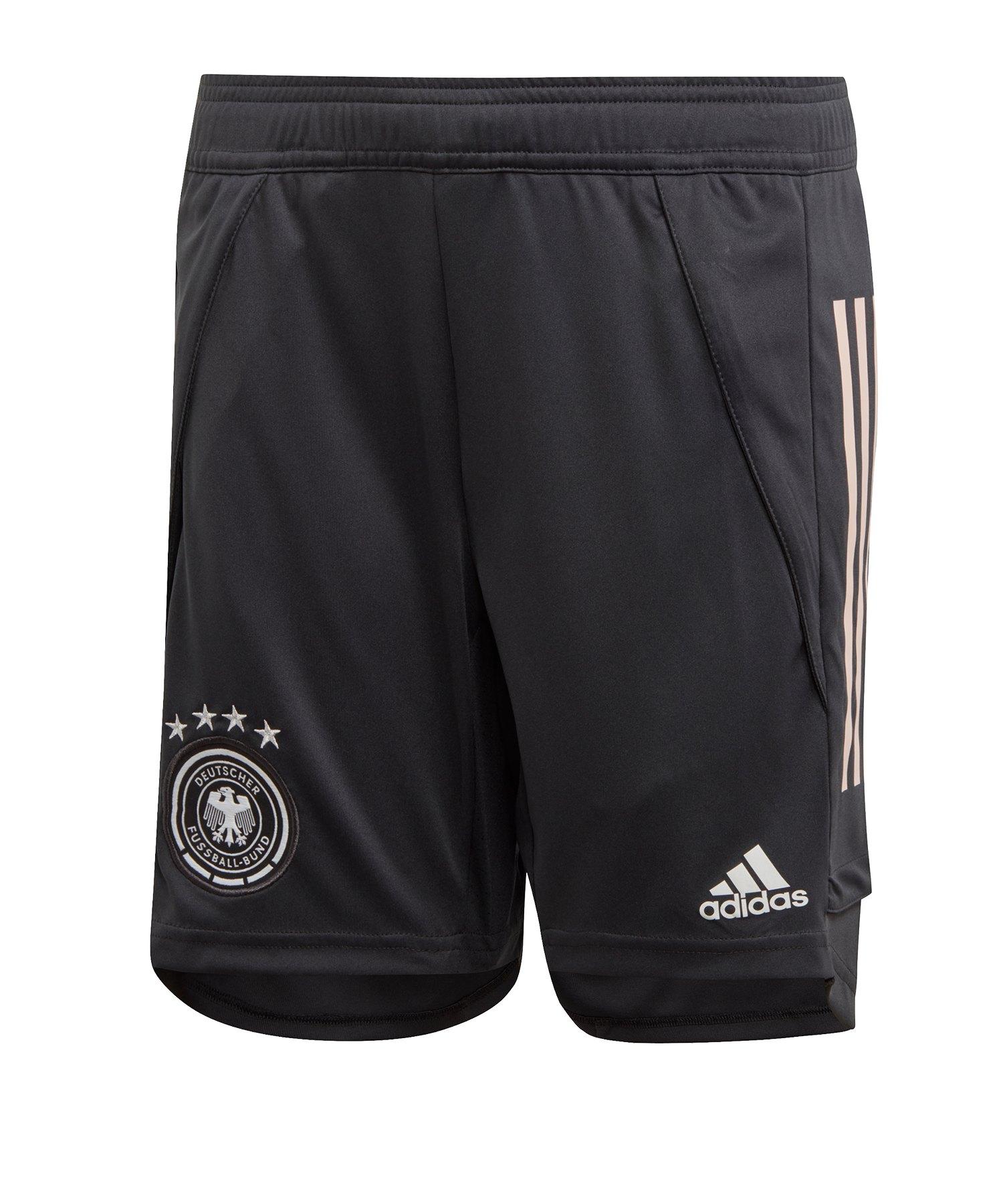 adidas DFB Deutschland Trainingsshort Kids Schwarz - schwarz