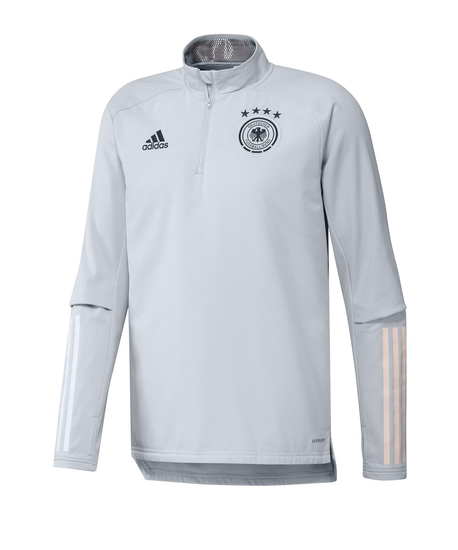 adidas DFB Deutschland 1/2 Zip Top LS Hellgrau - grau