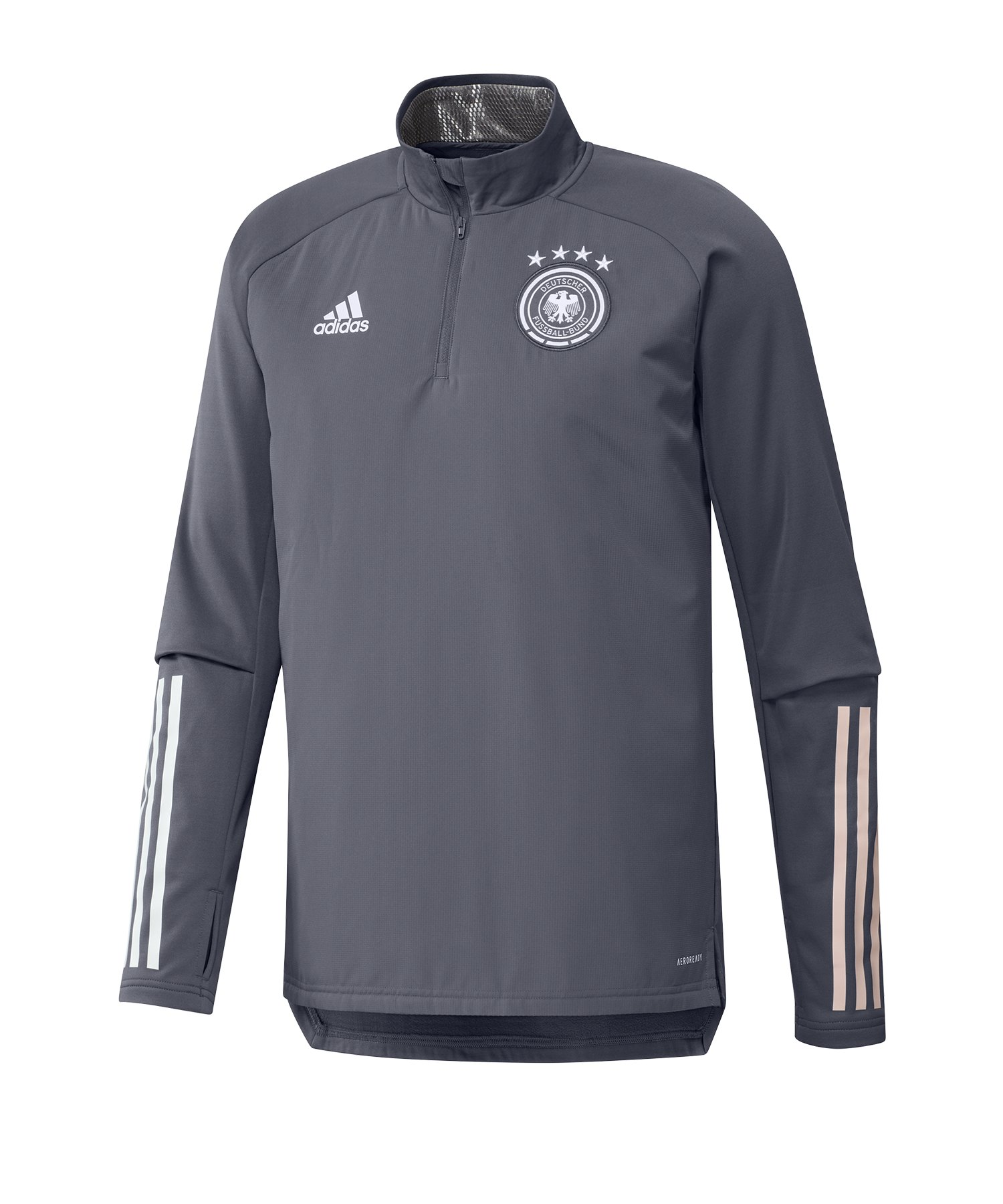 adidas DFB Deutschland 1/2 Zip Top LS Grau - grau