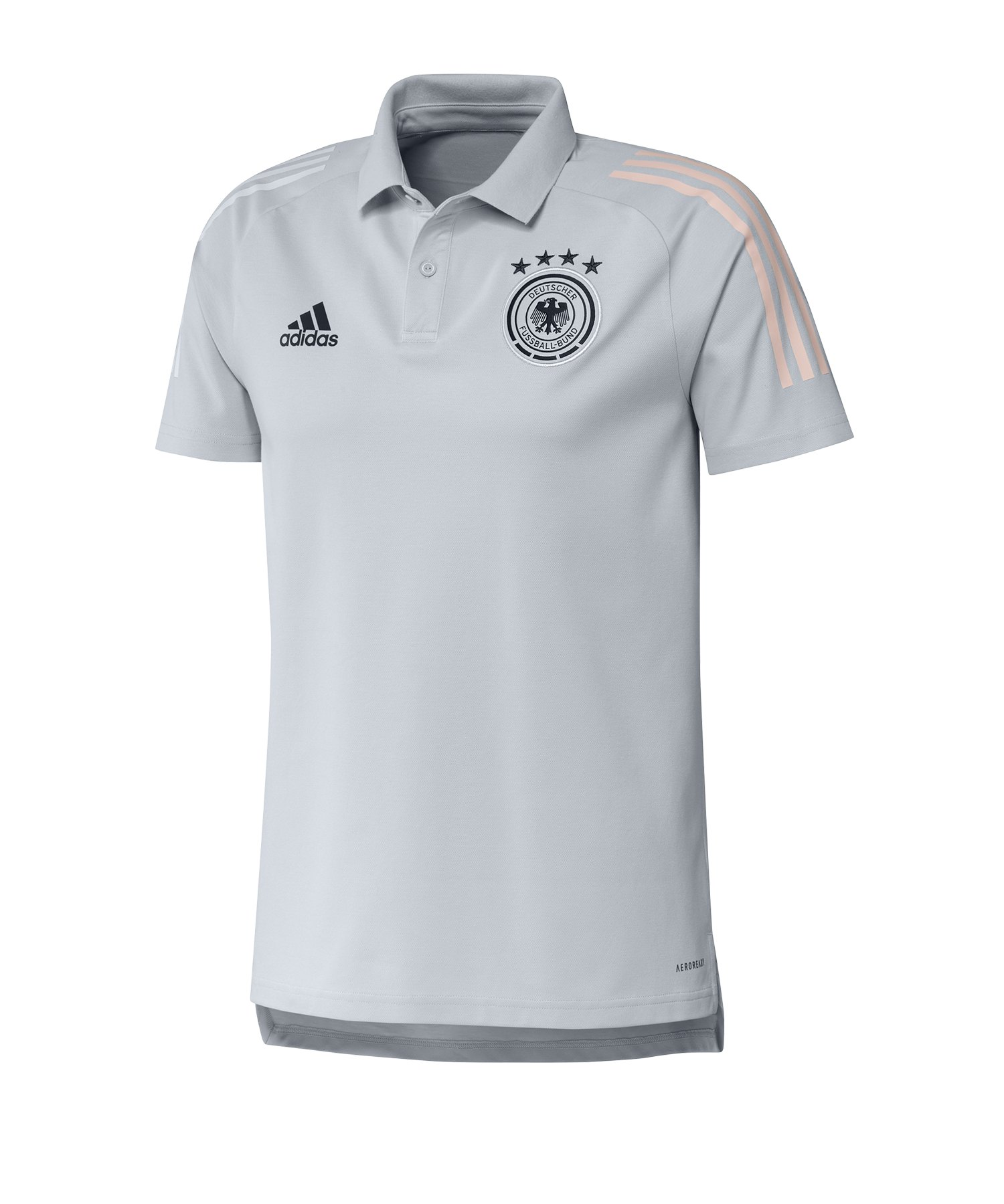 adidas DFB Deutschland Poloshirt Hellgrau - grau