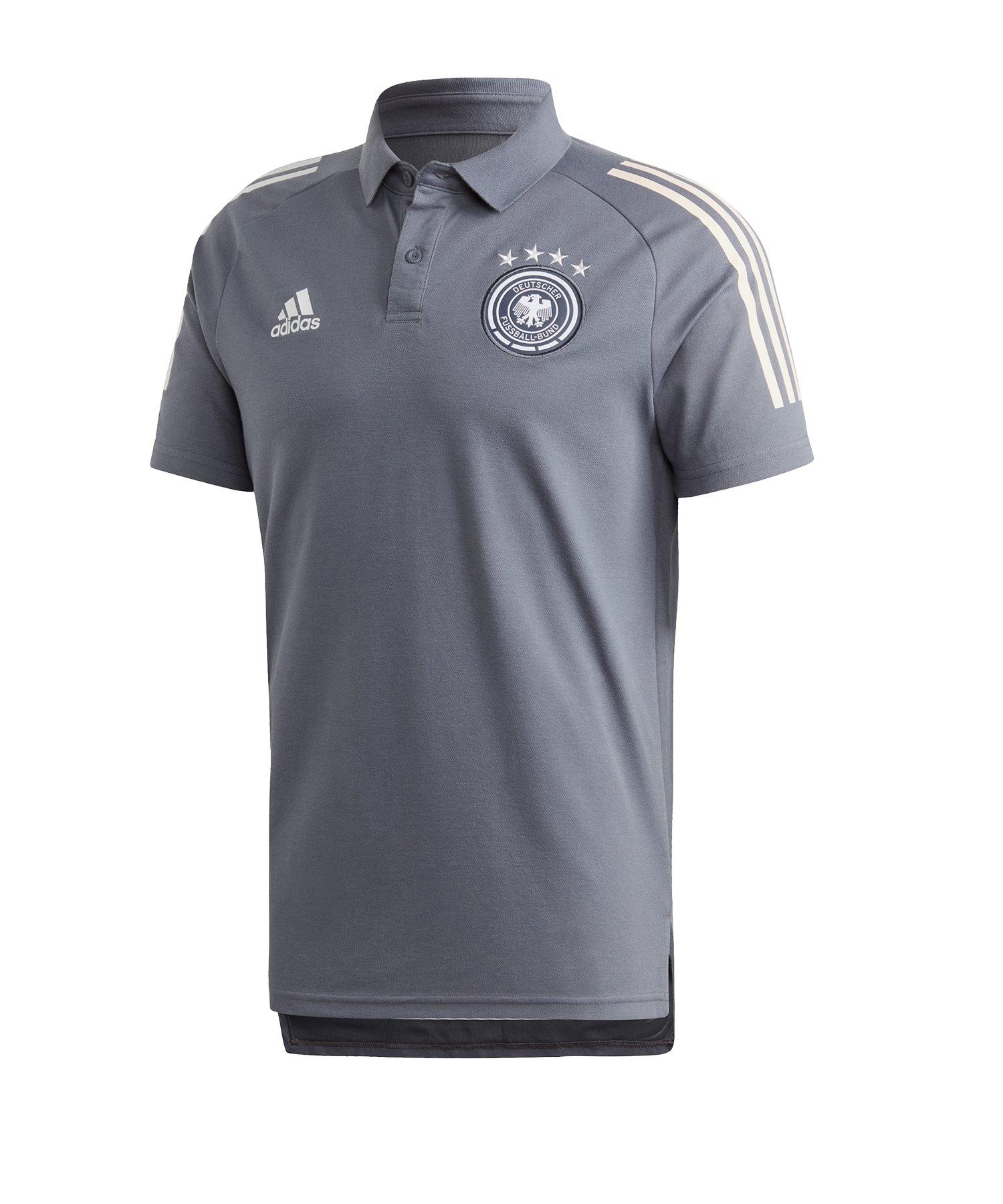 adidas DFB Deutschland Poloshirt Grau - grau