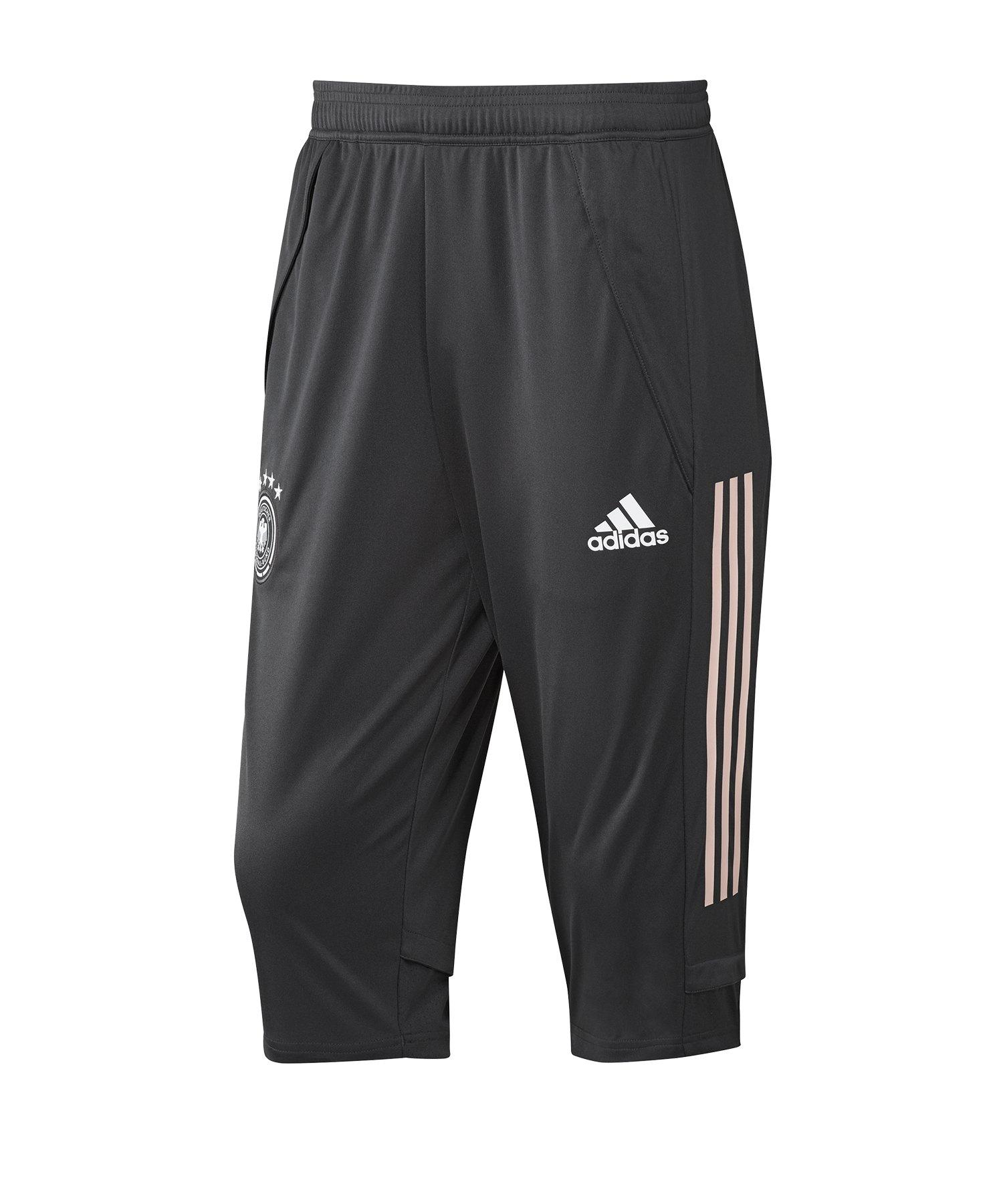 adidas DFB Deutschland 3/4 Pant Hose Schwarz - schwarz