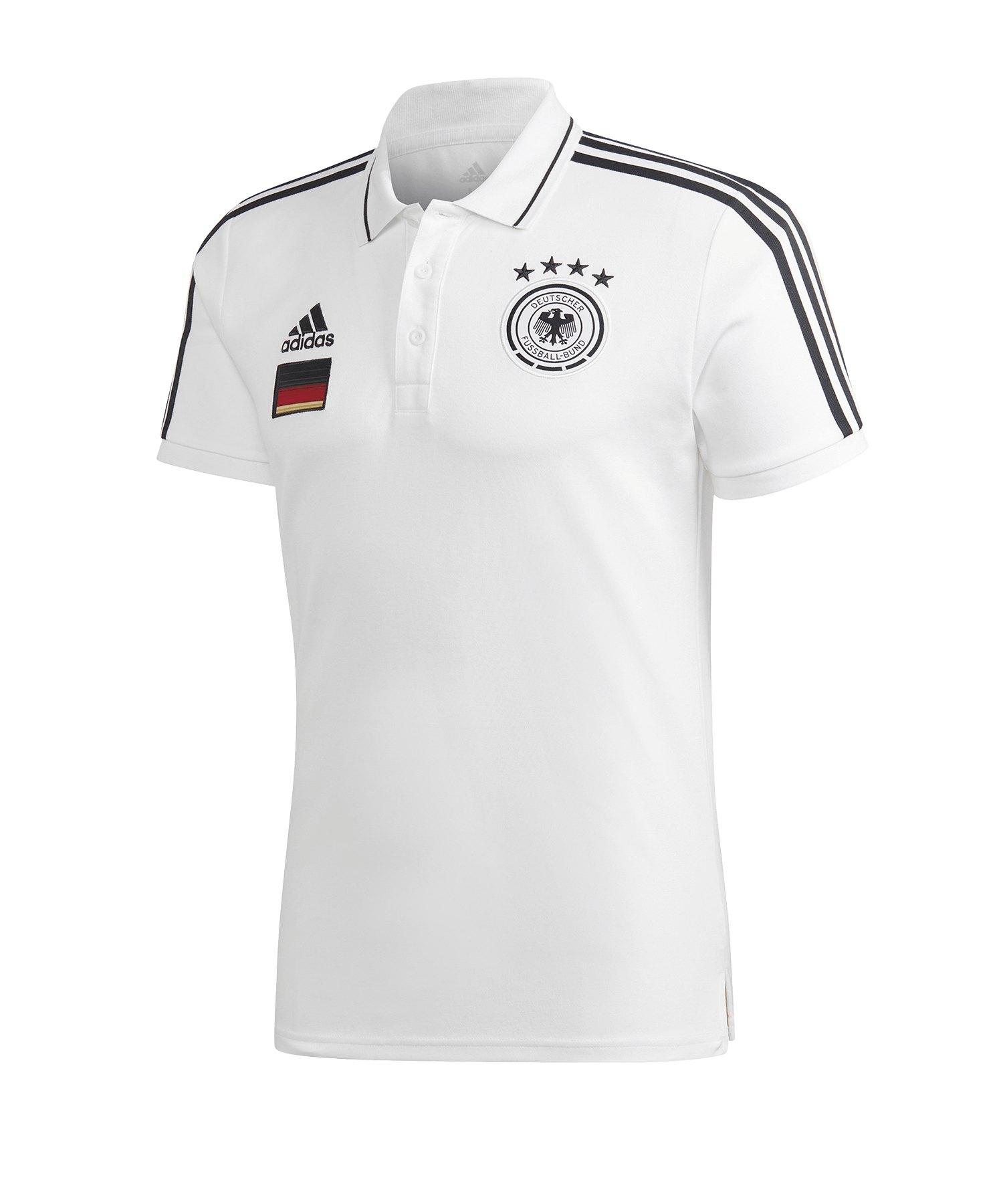 adidas DFB Deutschland 3S Poloshirt Weiss - weiss