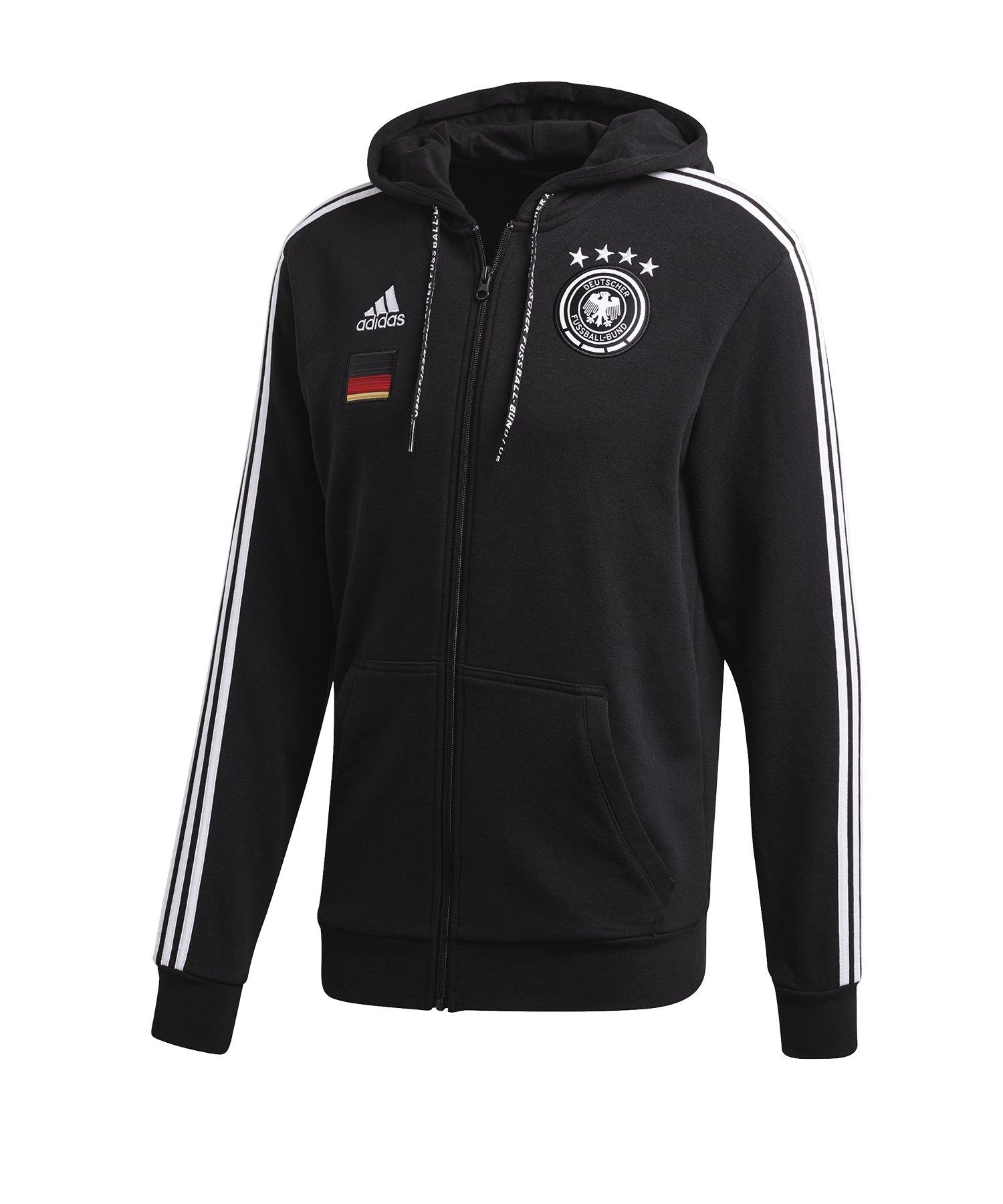 adidas DFB Deutschland Kapuzenjacke Schwarz - schwarz