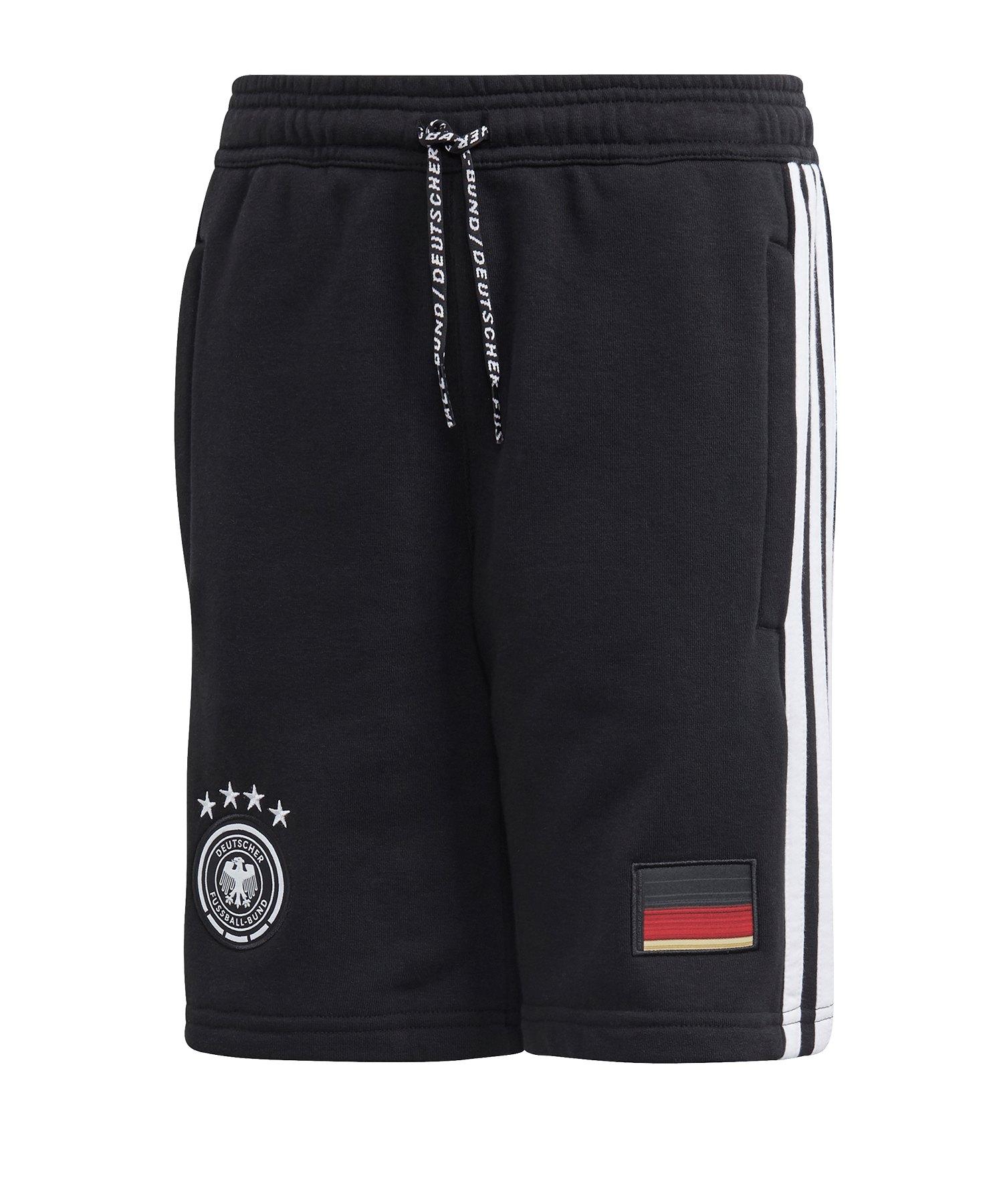 adidas DFB Deutschland Short Kids Schwarz - schwarz