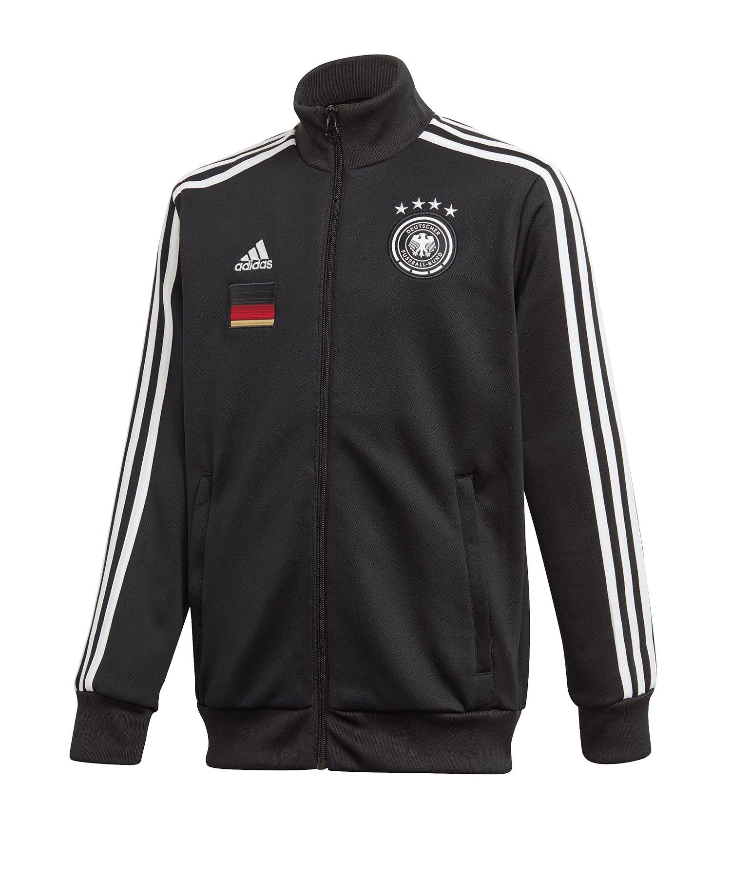 adidas DFB Deutschland Trainingsjacke Kids Schwarz - schwarz