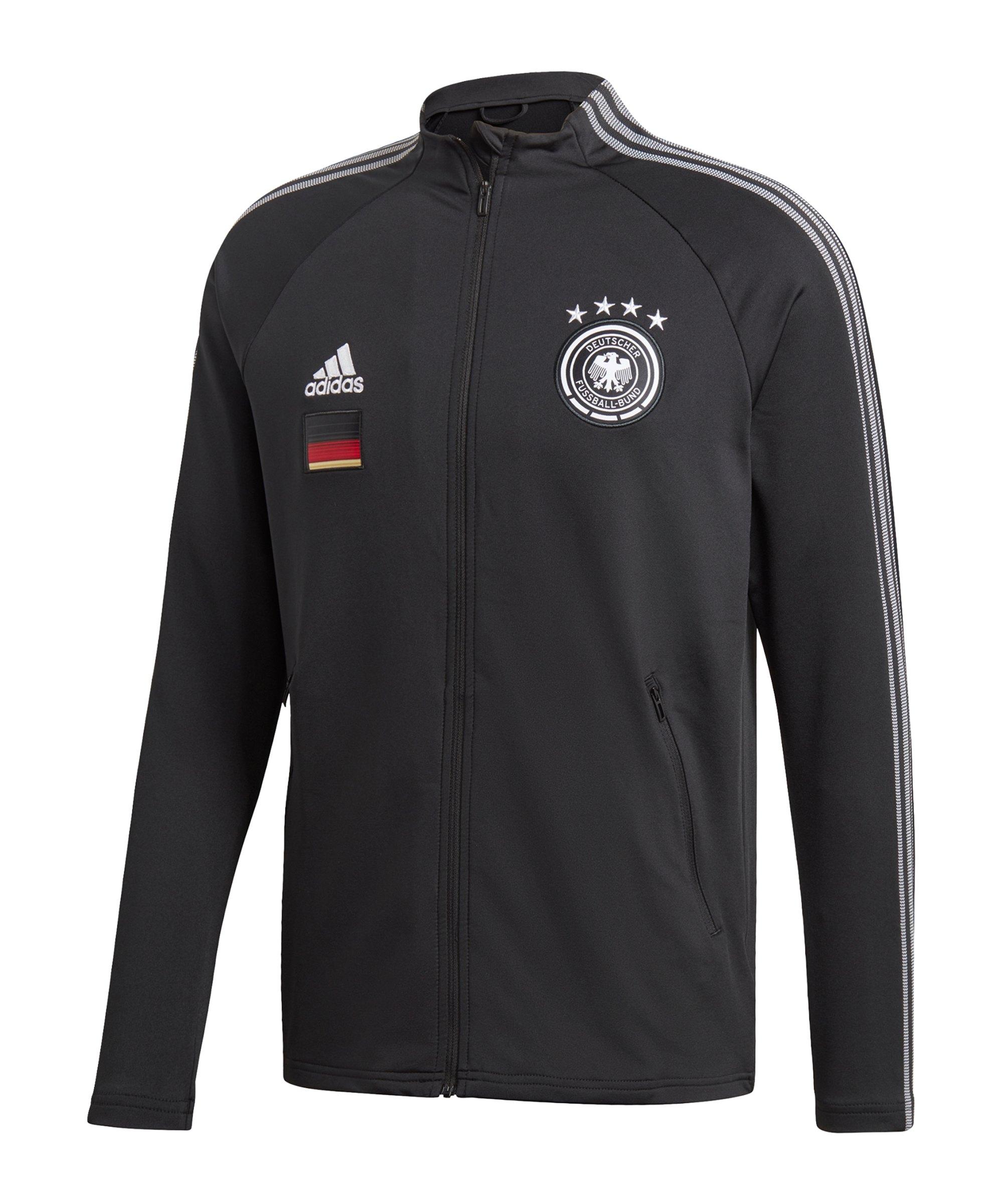 adidas DFB Deutschland Anthem Jacke Kids Schwarz - schwarz